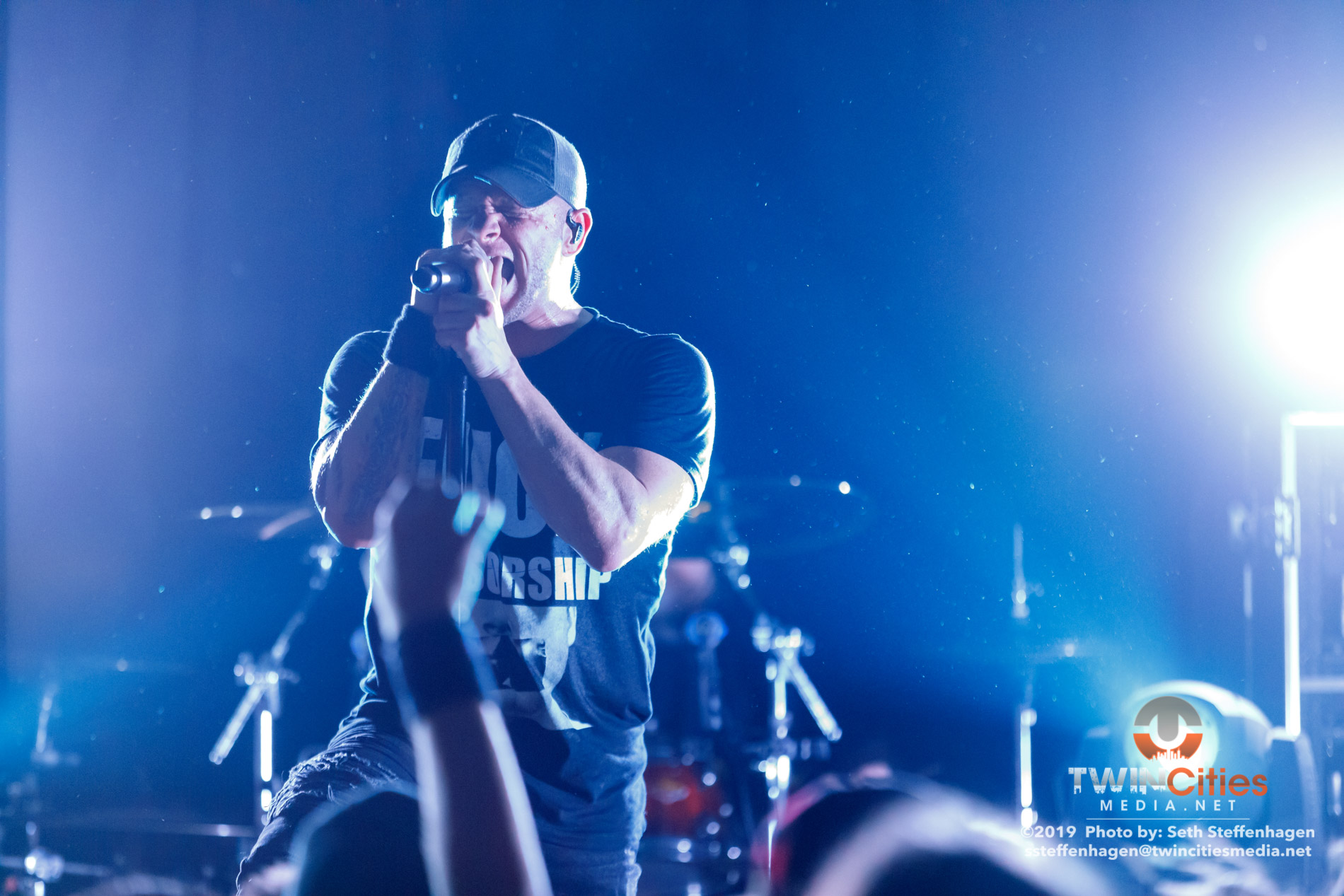 March 12, 2019 - Minneapolis, Minnesota, United States - All That Remains live in concert atThe Cabooze along with Atilla, Escape The Fate and Sleep Signals as the openers.  (Photo by Seth Steffenhagen/Steffenhagen Photography)