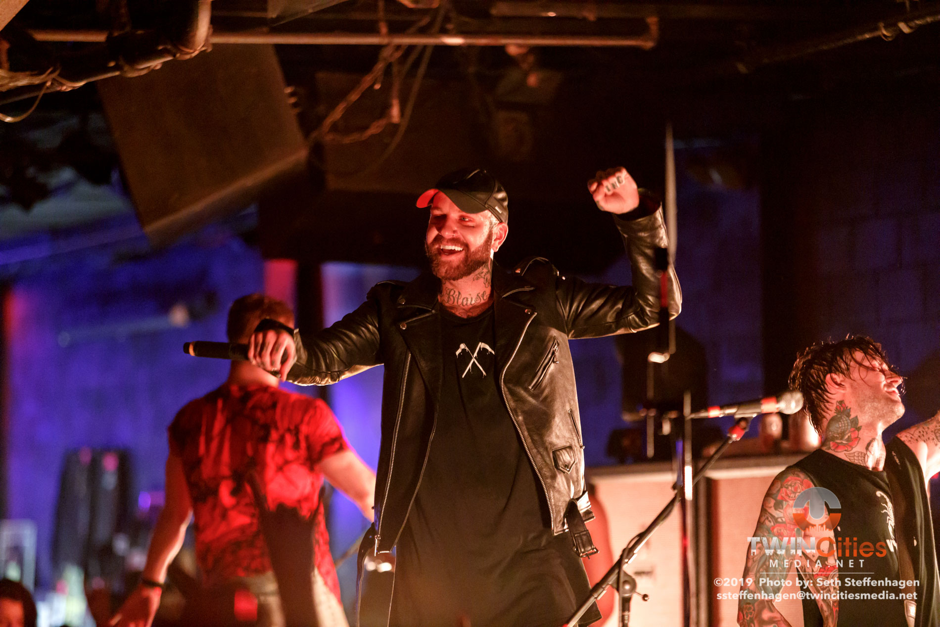 March 12, 2019 - Minneapolis, Minnesota, United States -  Atilla live in concert at The Cabooze opening for All That Remains.(Photo by Seth Steffenhagen/Steffenhagen Photography)