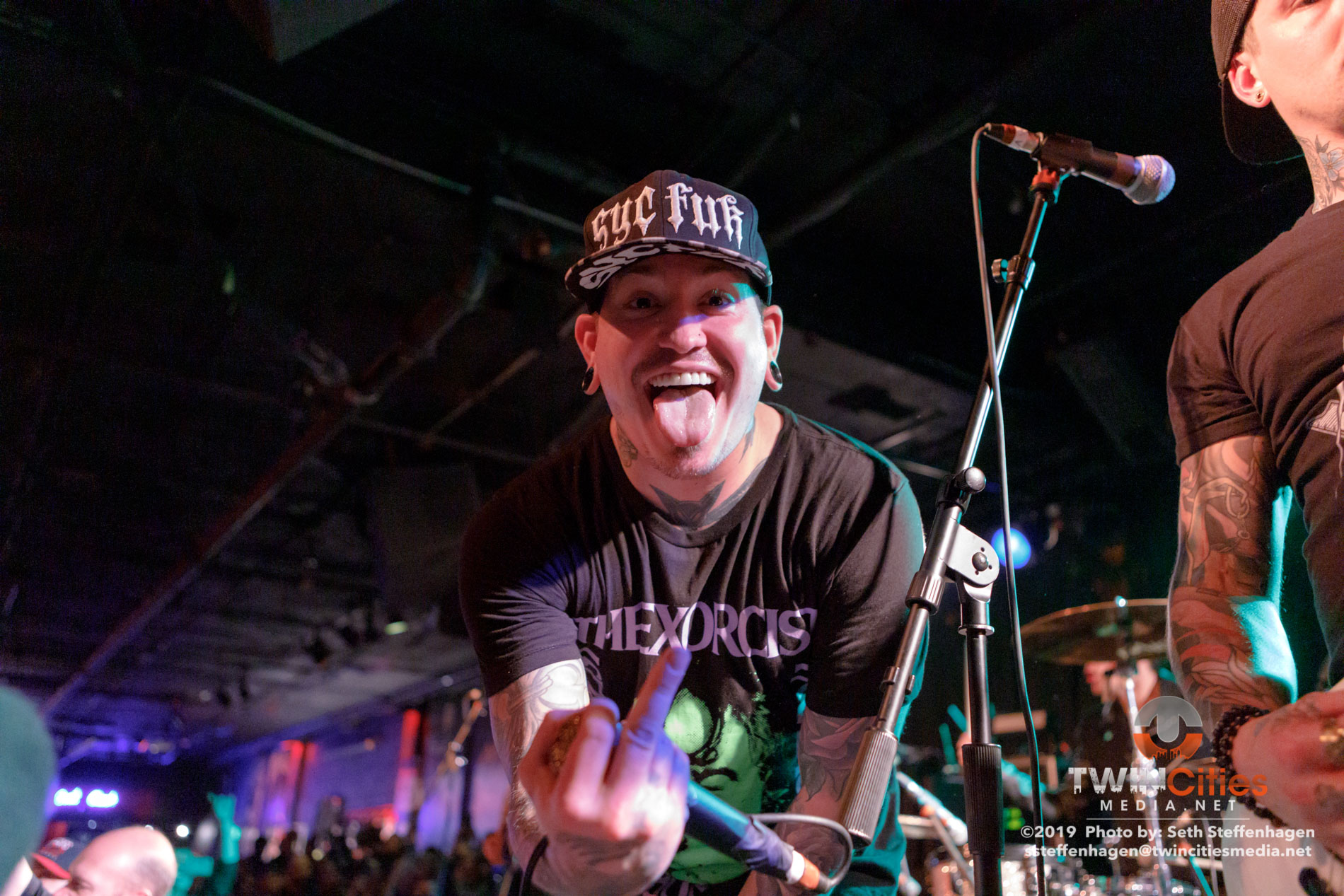 March 12, 2019 - Minneapolis, Minnesota, United States -  Escape The Fate live in concert at The Cabooze opening for All That Remains.(Photo by Seth Steffenhagen/Steffenhagen Photography)
