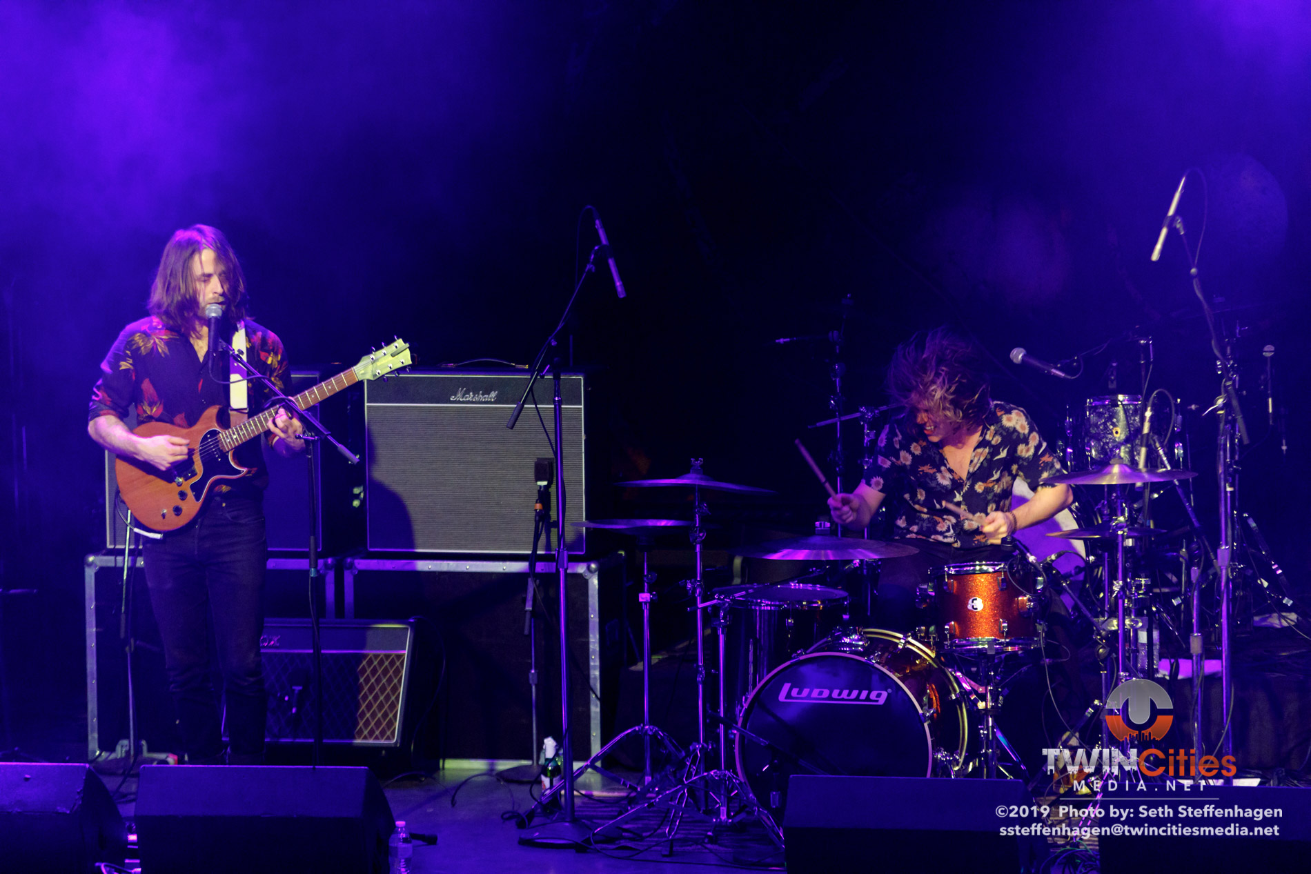 March 25, 2019 - Minneapolis, Minnesota, United States -  Demob Happy live in concert at First Avenue opening for Uncle Acid And The Deadbeats.  (Photo by Seth Steffenhagen/Steffenhagen Photography)