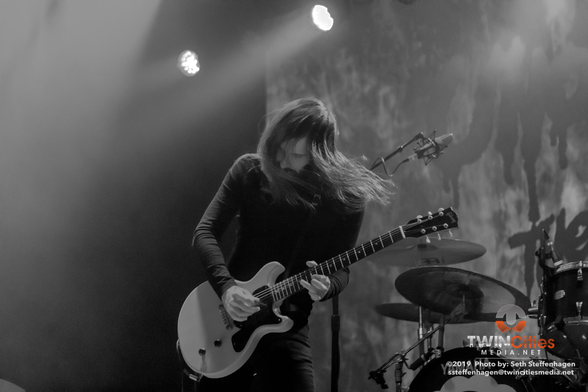 March 25, 2019 - Minneapolis, Minnesota, United States - Uncle Acid And The Deadbeats live in concert at First Avenue along with Graveyard and Demob Happy as the openers.  (Photo by Seth Steffenhagen/Steffenhagen Photography)