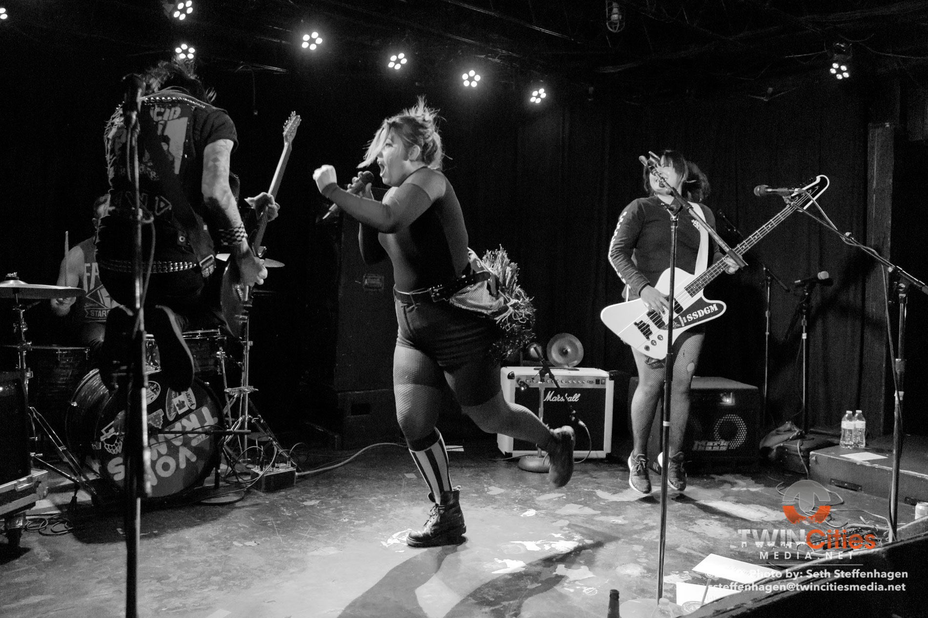 May 2, 2019 - Minneapolis, Minnesota, United States -  The Von Tramps live in concert at the 7th Street Entry opening for Bridge City Sinners.  (Photo by Seth Steffenhagen/Steffenhagen Photography)