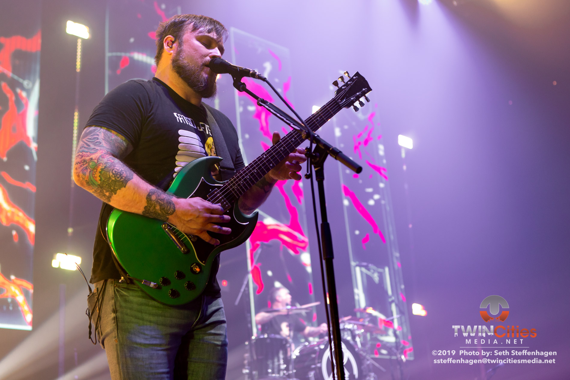 June 15, 2019 - Minneapolis, Minnesota, United States - Coheed & Cambria live in concert at The Armory along with Mastodon and Every Time I Die.(Photo by Seth Steffenhagen/Steffenhagen Photography)