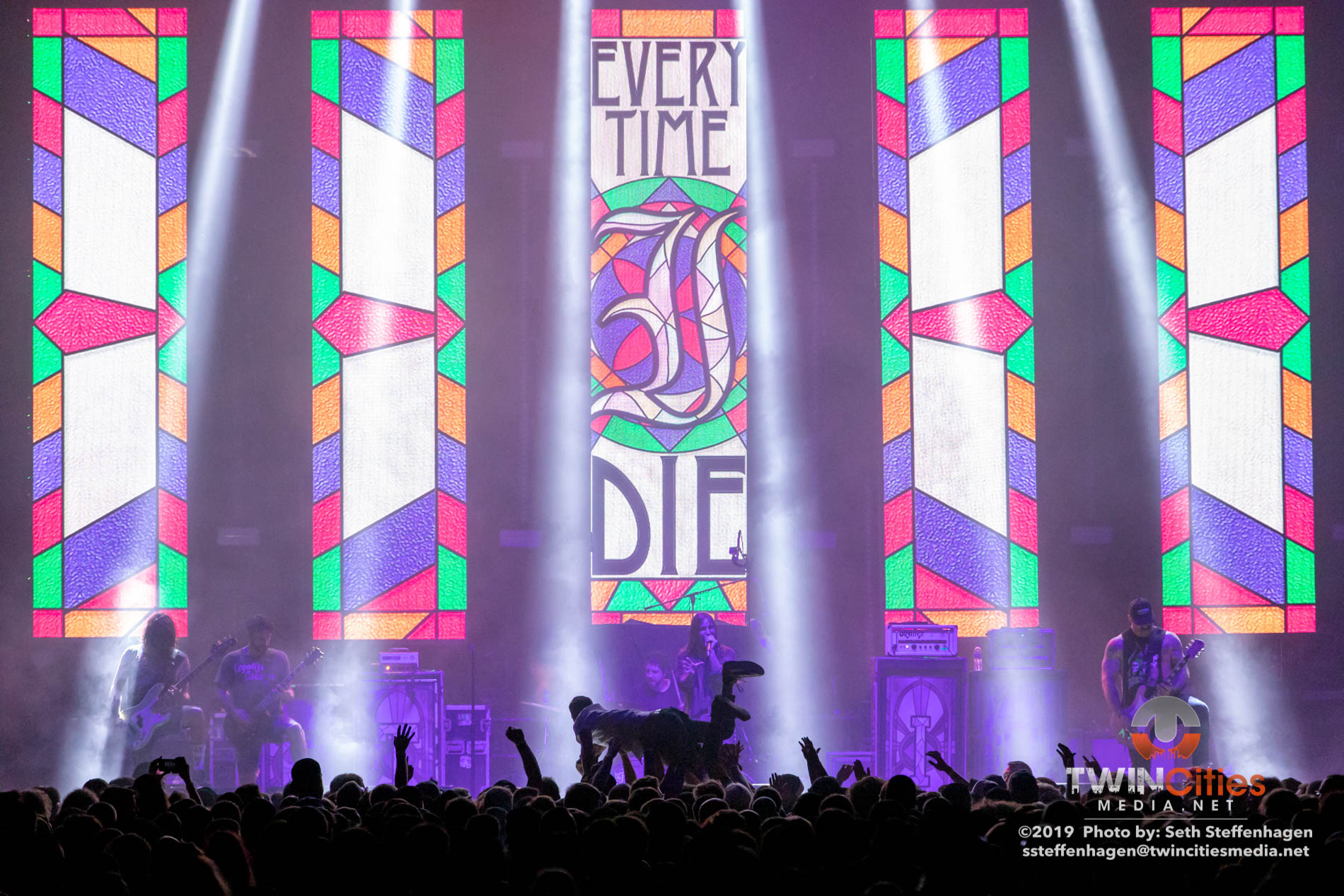 June 15, 2019 - Minneapolis, Minnesota, United States -  Every Time I Die live in concert at The Armory opening for Mastodon and Coheed & Cambria.  (Photo by Seth Steffenhagen/Steffenhagen Photography)