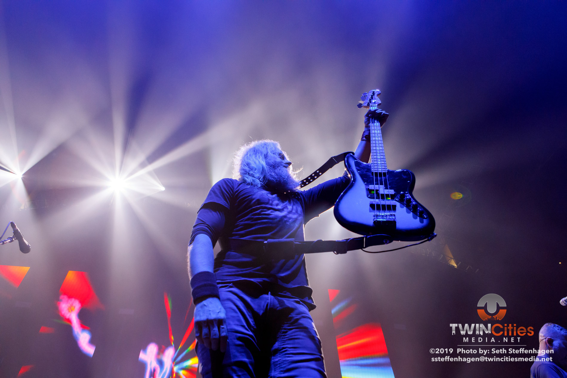 June 15, 2019 - Minneapolis, Minnesota, United States - Mastodon live in concert at The Armory along with Coheed & Cambria and Every Time I Die.  (Photo by Seth Steffenhagen/Steffenhagen Photography)