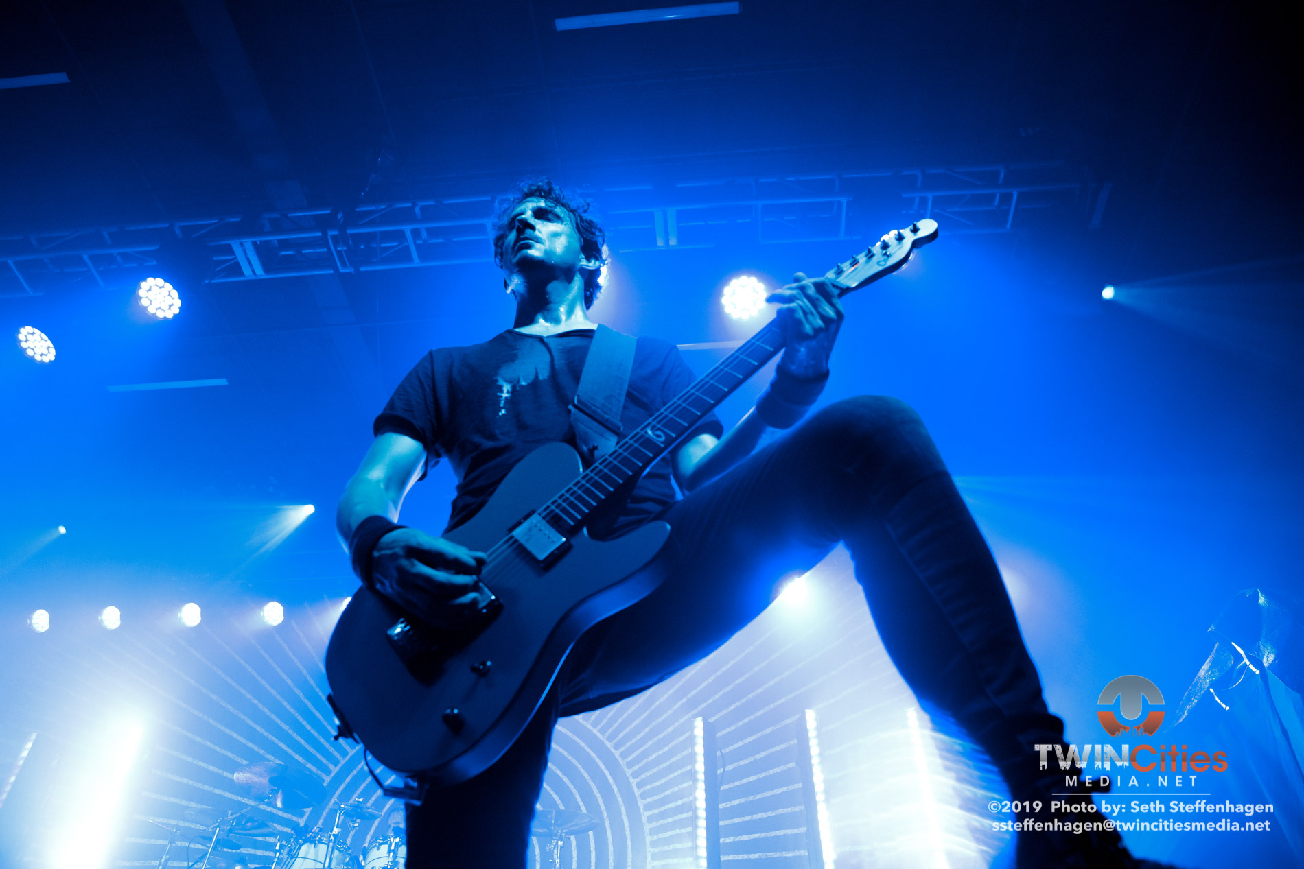 August 9, 2019 - Minneapolis, Minnesota, United States - Gojira live in concert at First Avenue along with Witchden as the openers.  (Photo by Seth Steffenhagen/Steffenhagen Photography)