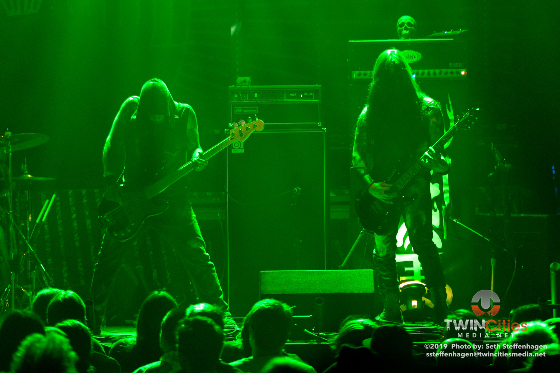 August 9, 2019 - Minneapolis, Minnesota, United States - Witchden live in concert at First Avenue opening for Gojira.  (Photo by Seth Steffenhagen/Steffenhagen Photography)