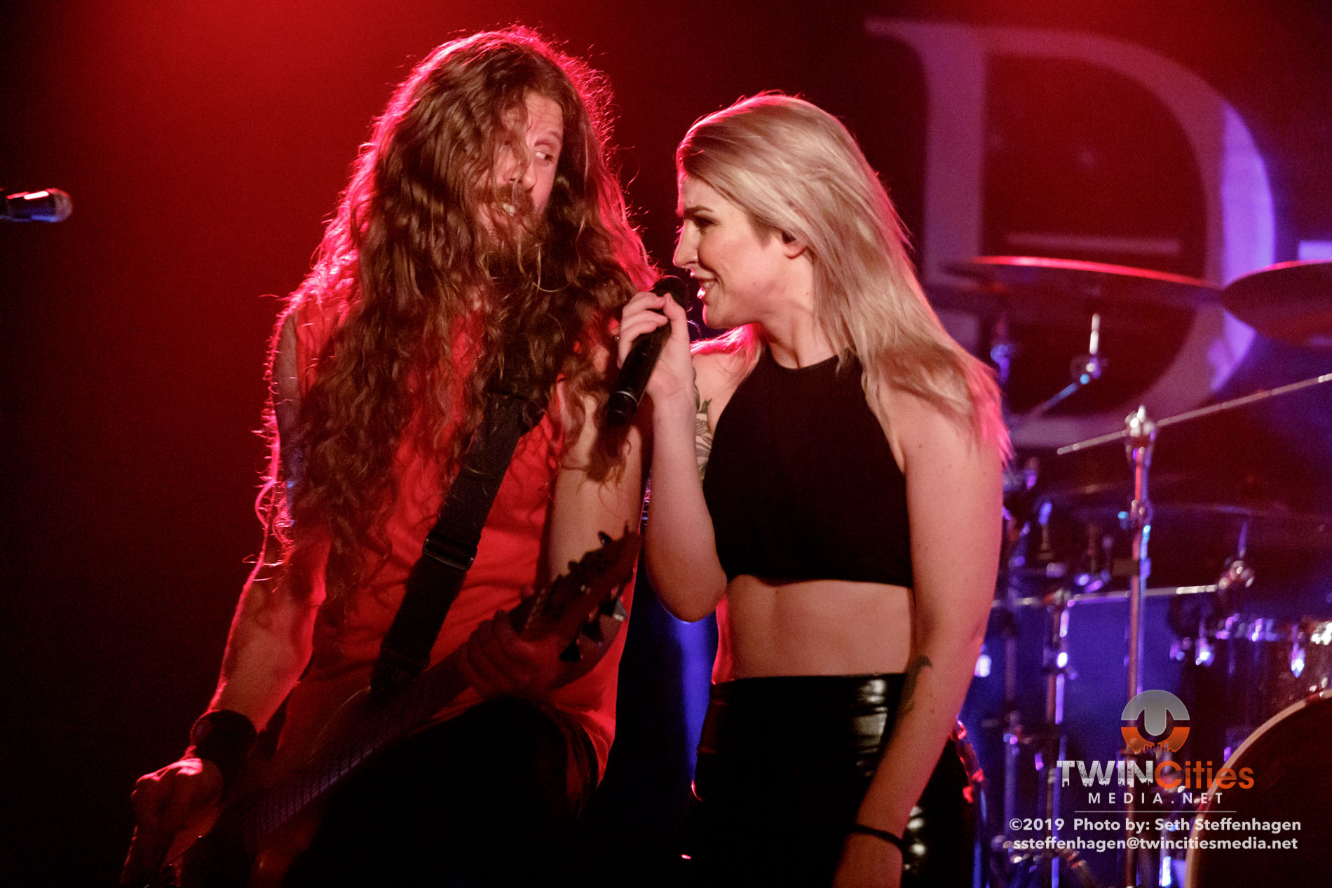 September 30, 2019 - Minneapolis, Minnesota, United States - Delain live in concert at The Cabooze along with Amorphis and Anneke Van Giersbergen as the openers.  (Photo by Seth Steffenhagen/Steffenhagen Photography)