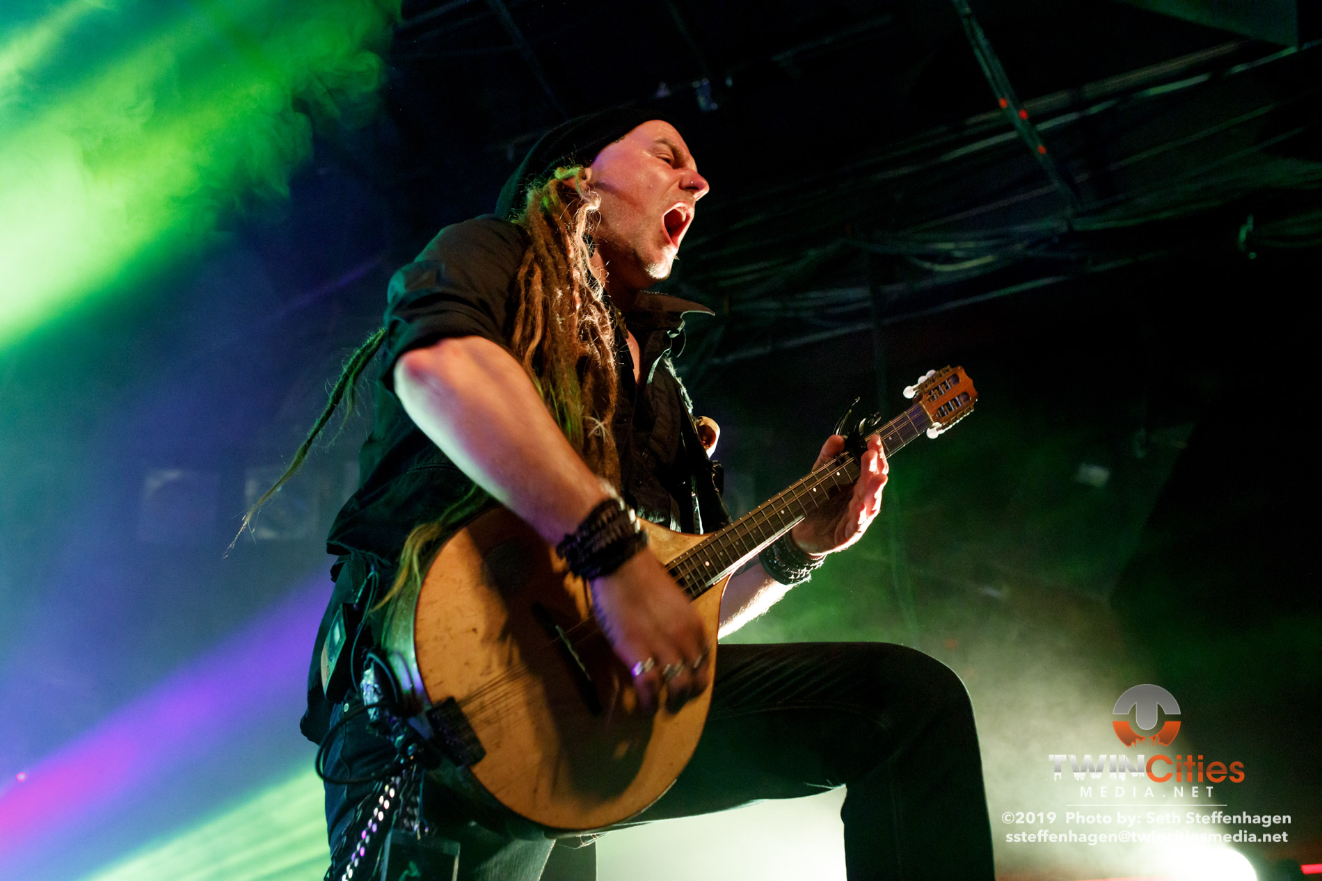 October 5, 2019 - Minneapolis, Minnesota, United States -  Eluveitie live in concert at The Cabooze co-headlining with Korpiklaani and with Gone In April as the openers.(Photo by Seth Steffenhagen/Steffenhagen Photography)