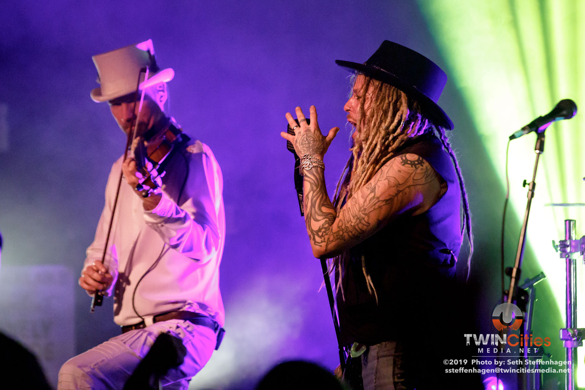 October 5, 2019 - Minneapolis, Minnesota, United States - Korpiklaani live in concert at The Cabooze co-headlining with Eluveitie and with Gone In April as the openers.  (Photo by Seth Steffenhagen/Steffenhagen Photography)