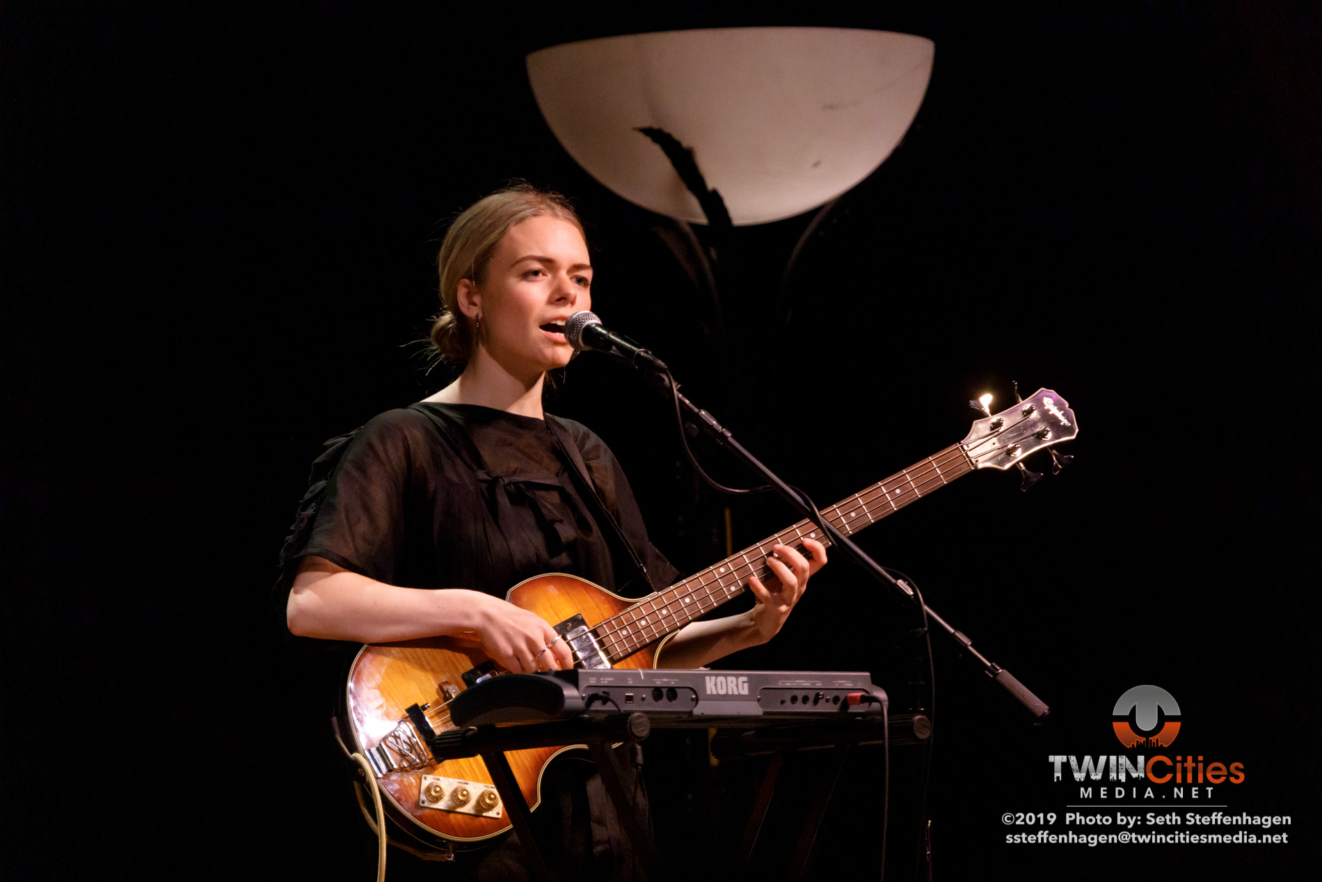 November 15, 2019 - Minneapolis, Minnesota, United States - Jesca Hoop live in concert at The Cedar Cultural Center along with Chloe Foy as the opener.(Photo by Seth Steffenhagen/Steffenhagen Photography)