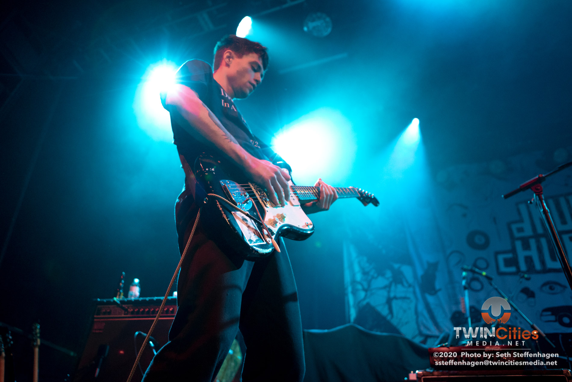 January 30, 2020 - Minneapolis, Minnesota, United States -  Drug Church live in concert at First Avenue opening for Thrice.  (Photo by Seth Steffenhagen/Steffenhagen Photography)