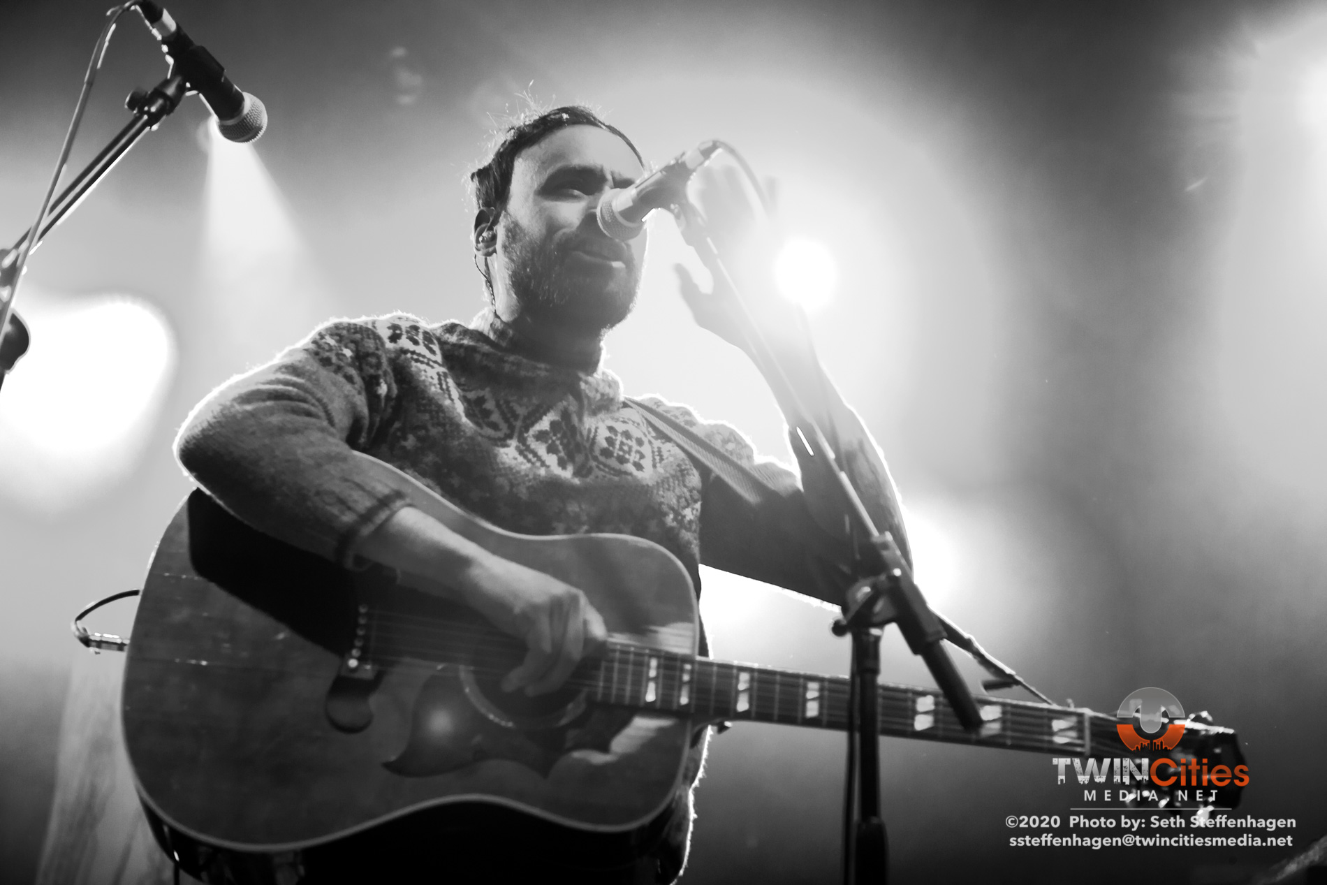 January 30, 2020 - Minneapolis, Minnesota, United States -  mewithoutYou live in concert at First Avenue opening for Thrice.  (Photo by Seth Steffenhagen/Steffenhagen Photography)