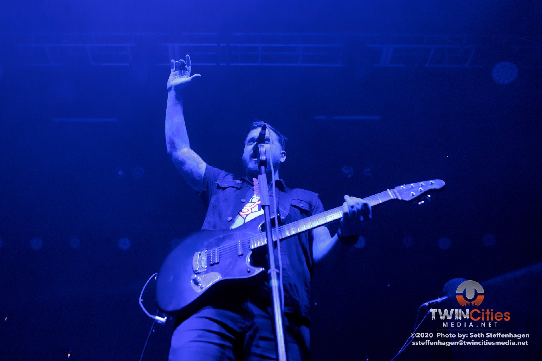 January 30, 2020 - Minneapolis, Minnesota, United States - Thrice live in concert at the First Avenue along with mewithoutYou, Drug Church and Holy Fawn as the openers.  (Photo by Seth Steffenhagen/Steffenhagen Photography)
