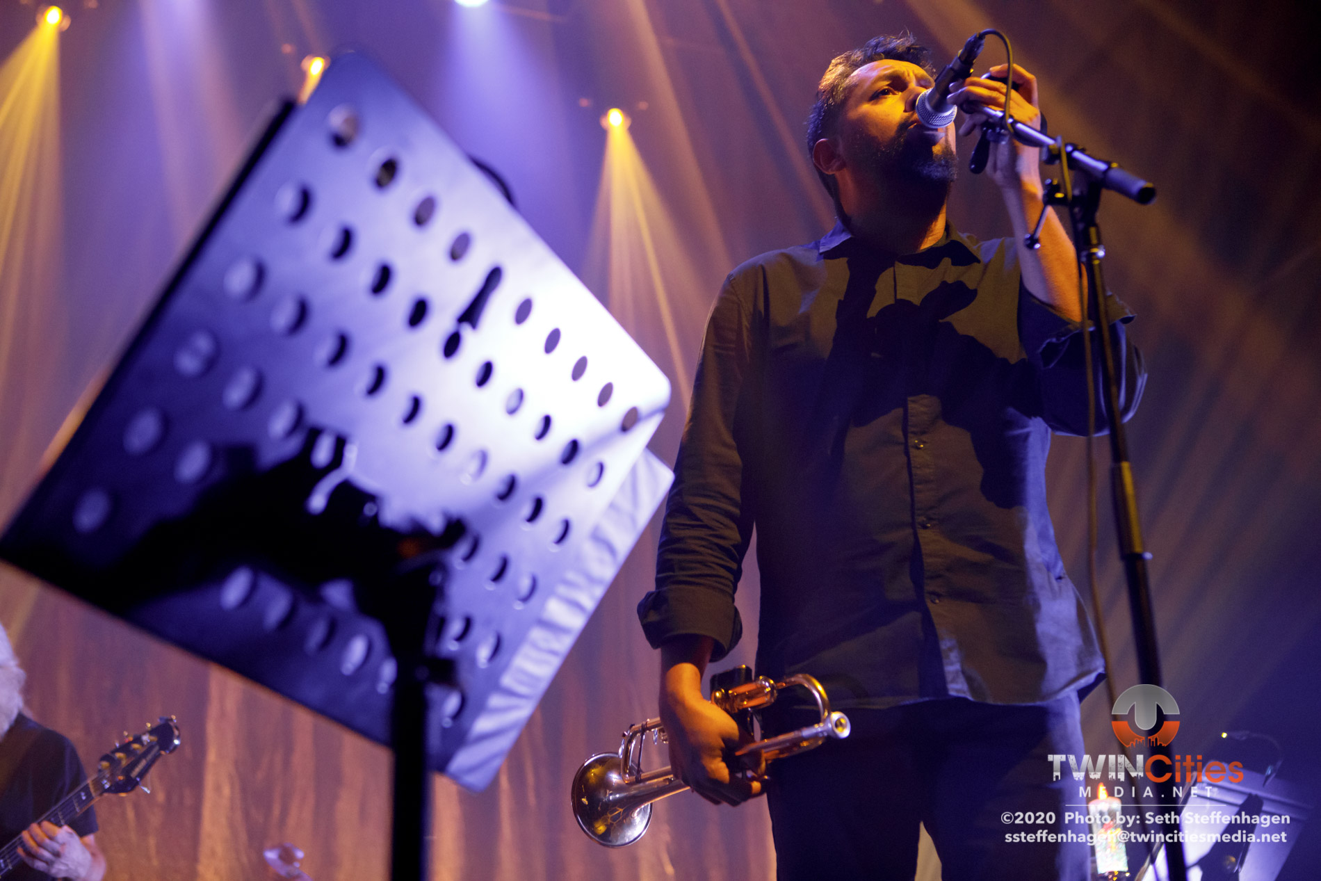 February 14, 2020 - Saint Paul, Minnesota, United States - Calexico And Iron & Wine live in concert at the Palace Theatre along with Madison Cunningham as the opener.  (Photo by Seth Steffenhagen/Steffenhagen Photography)