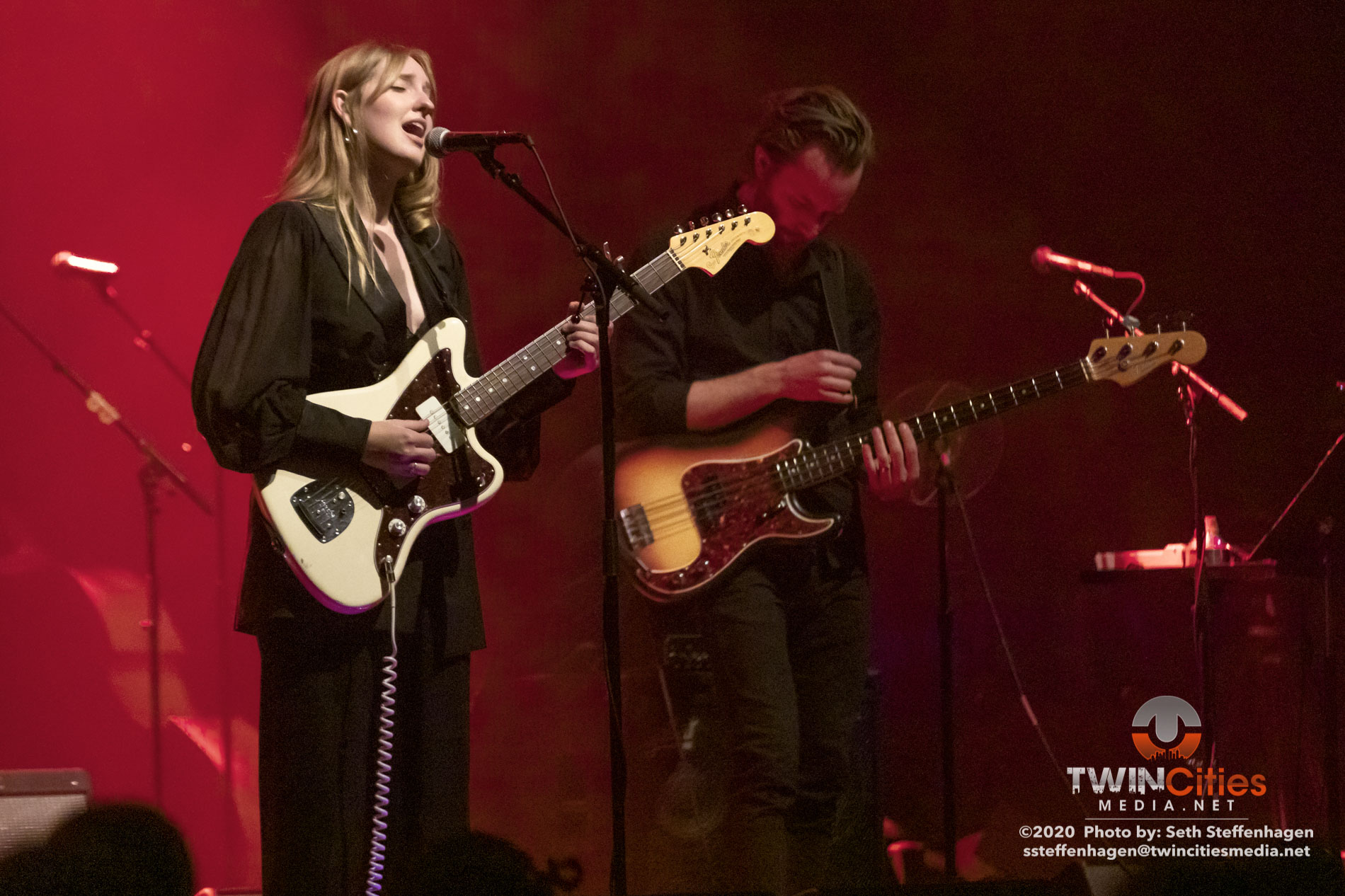 February 14, 2020 - Saint Paul, Minnesota, United States -  Madison Cunningham live in concert at the Palace Theatre opening for Calexico And Iron & Wine.  (Photo by Seth Steffenhagen/Steffenhagen Photography)