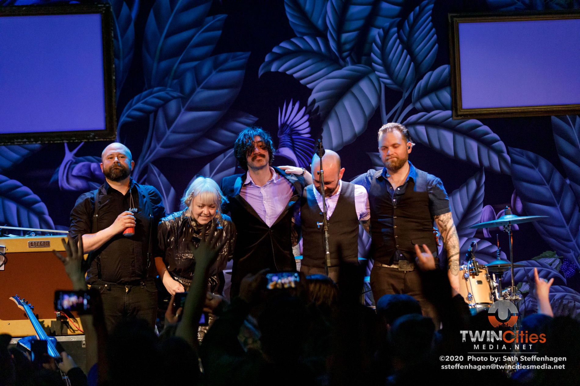 March 12, 2020 - Minneapolis, Minnesota, United States - Murder By Death live in concert at The Cedar Cultural Center along with Amigo The Devil as the opener.  (Photo by Seth Steffenhagen/Steffenhagen Photography)