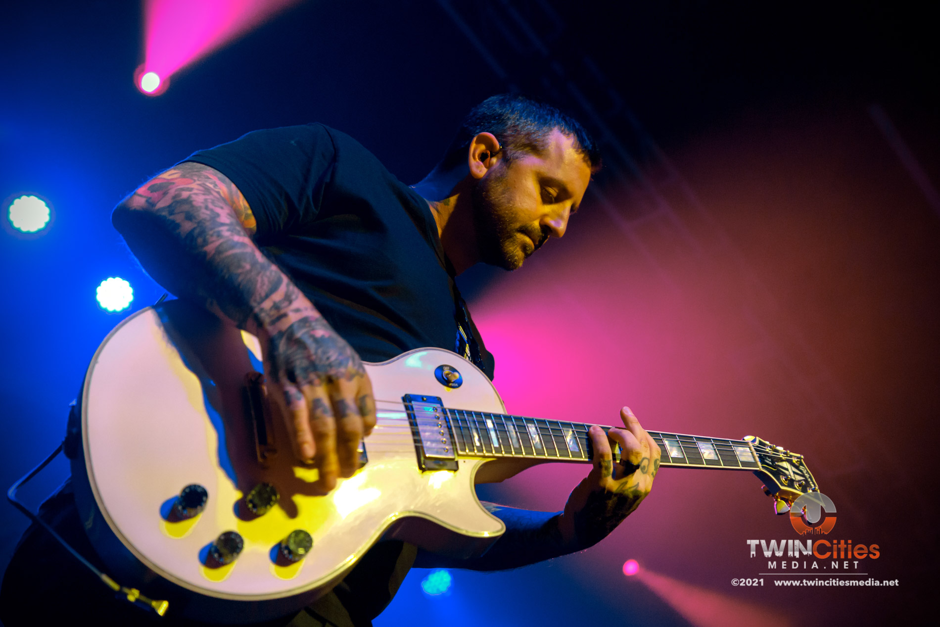 September 17, 2021 - Minneapolis, Minnesota, United States - Bayside live in concert at First Avenue along with Senses Fail, Hawthorne Heights, and The Bombpops as the openers.  (Photo by Seth Steffenhagen/Steffenhagen Photography)