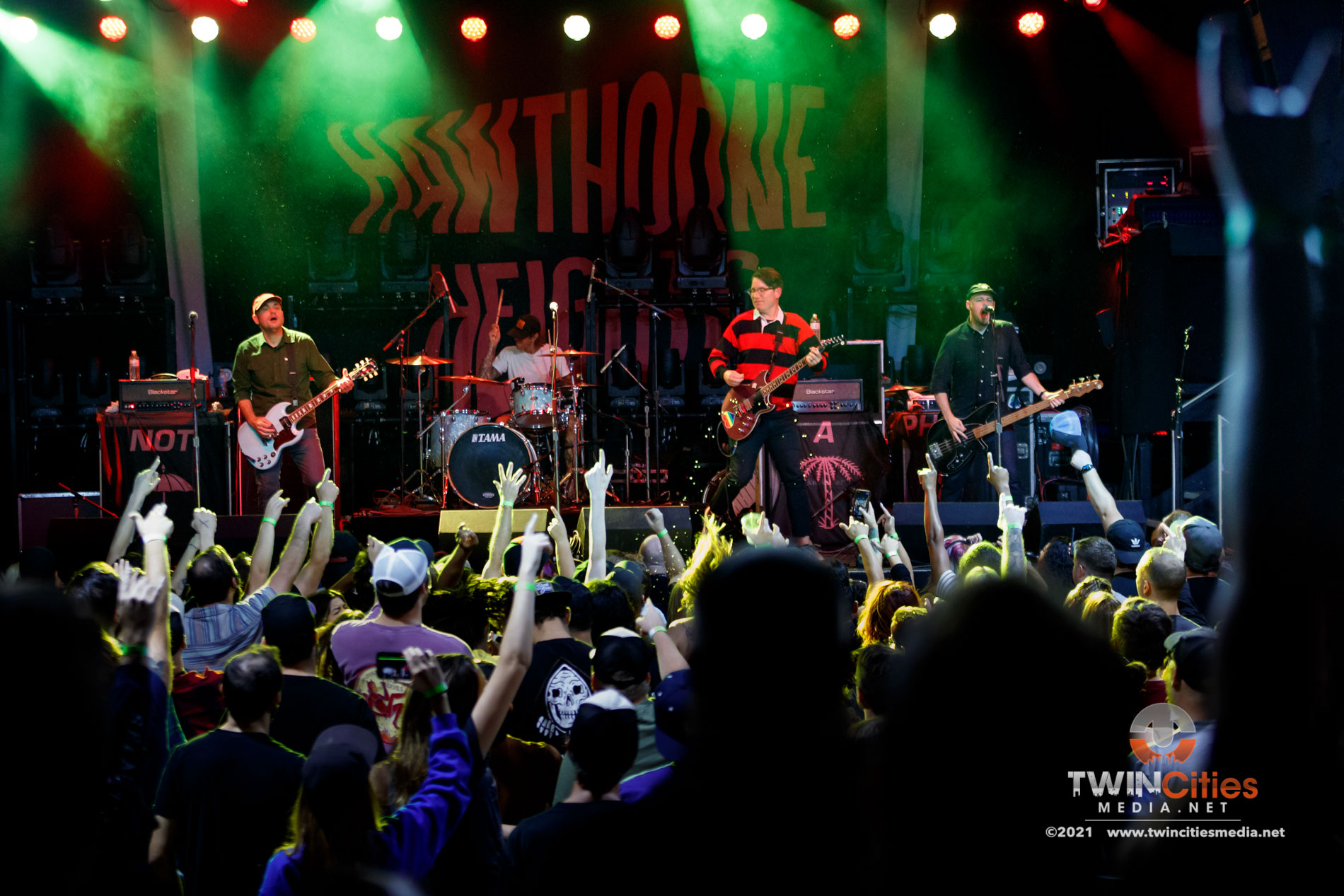 September 17, 2021 - Minneapolis, Minnesota, United States - Hawthorne Heights live in concert at First Avenue opening for Bayside.  (Photo by Seth Steffenhagen/Steffenhagen Photography)