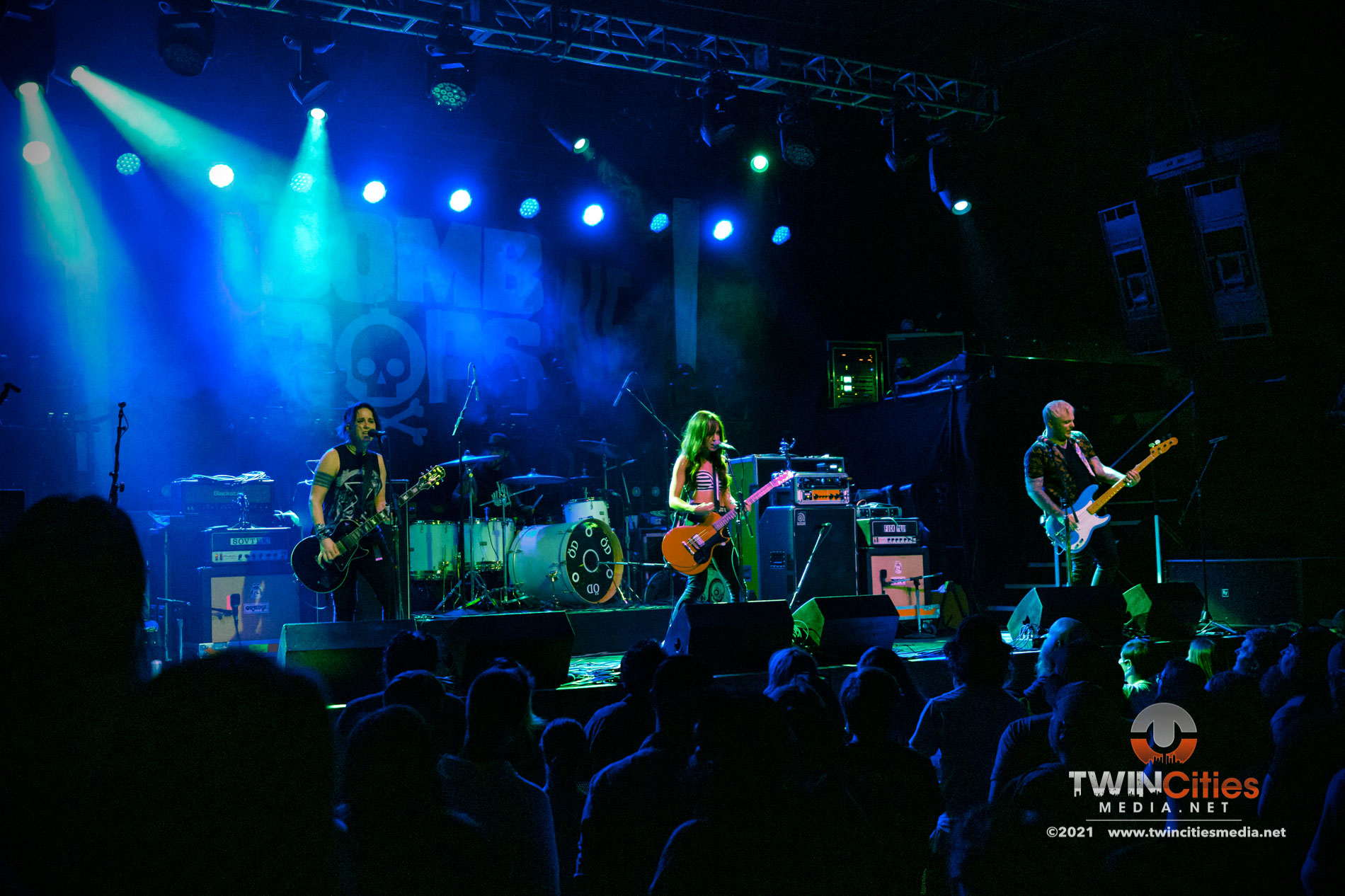 September 17, 2021 - Minneapolis, Minnesota, United States - The Bombpops live in concert at First Avenue opening for Bayside.  (Photo by Seth Steffenhagen/Steffenhagen Photography)