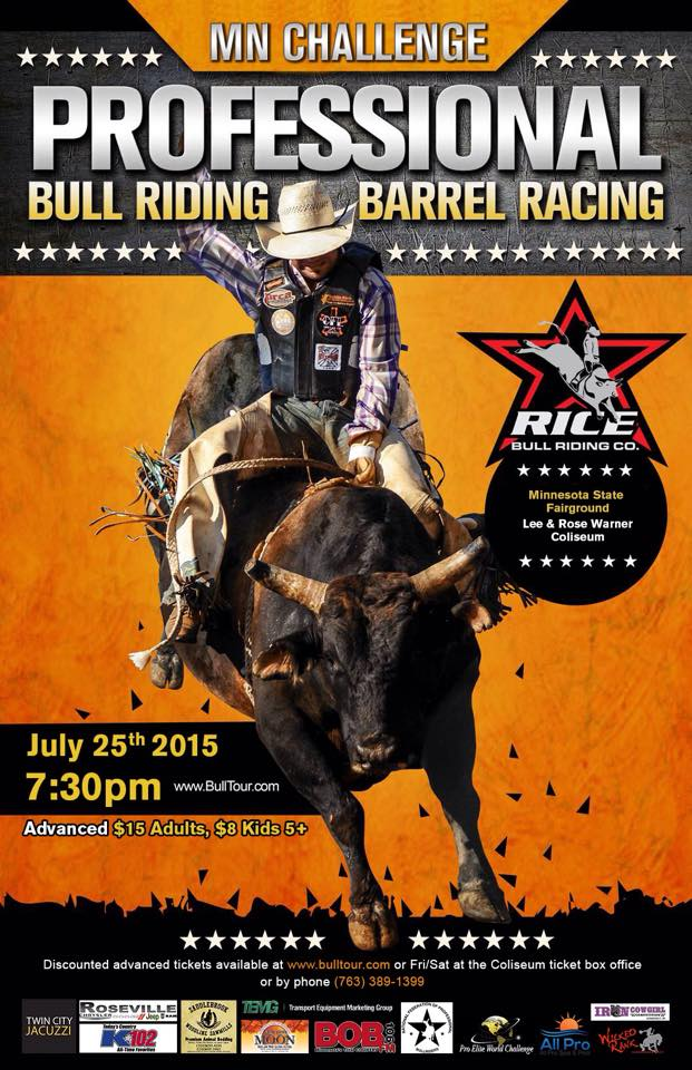 Rice Bull Riding Company presents the MN Challenge Professional Bull Riding & Barrel Racing Event