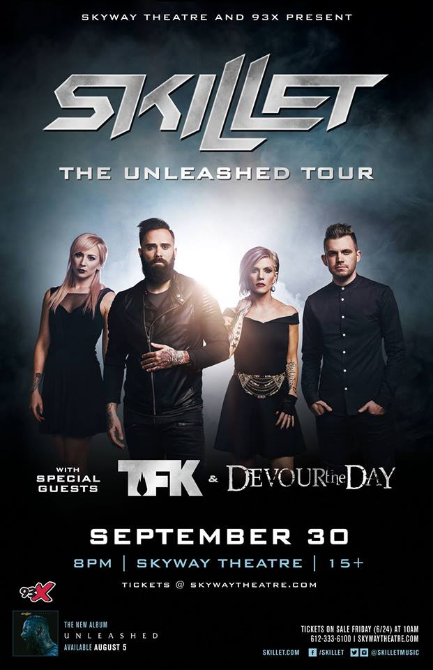 Skyway Theater and 93X Presents Skillet, Thousand Foot Krutch, and