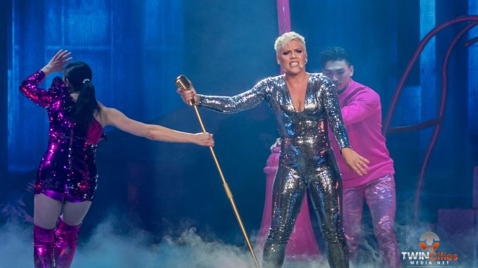 p nk impresses with high flying honest show twincitiesmedia net