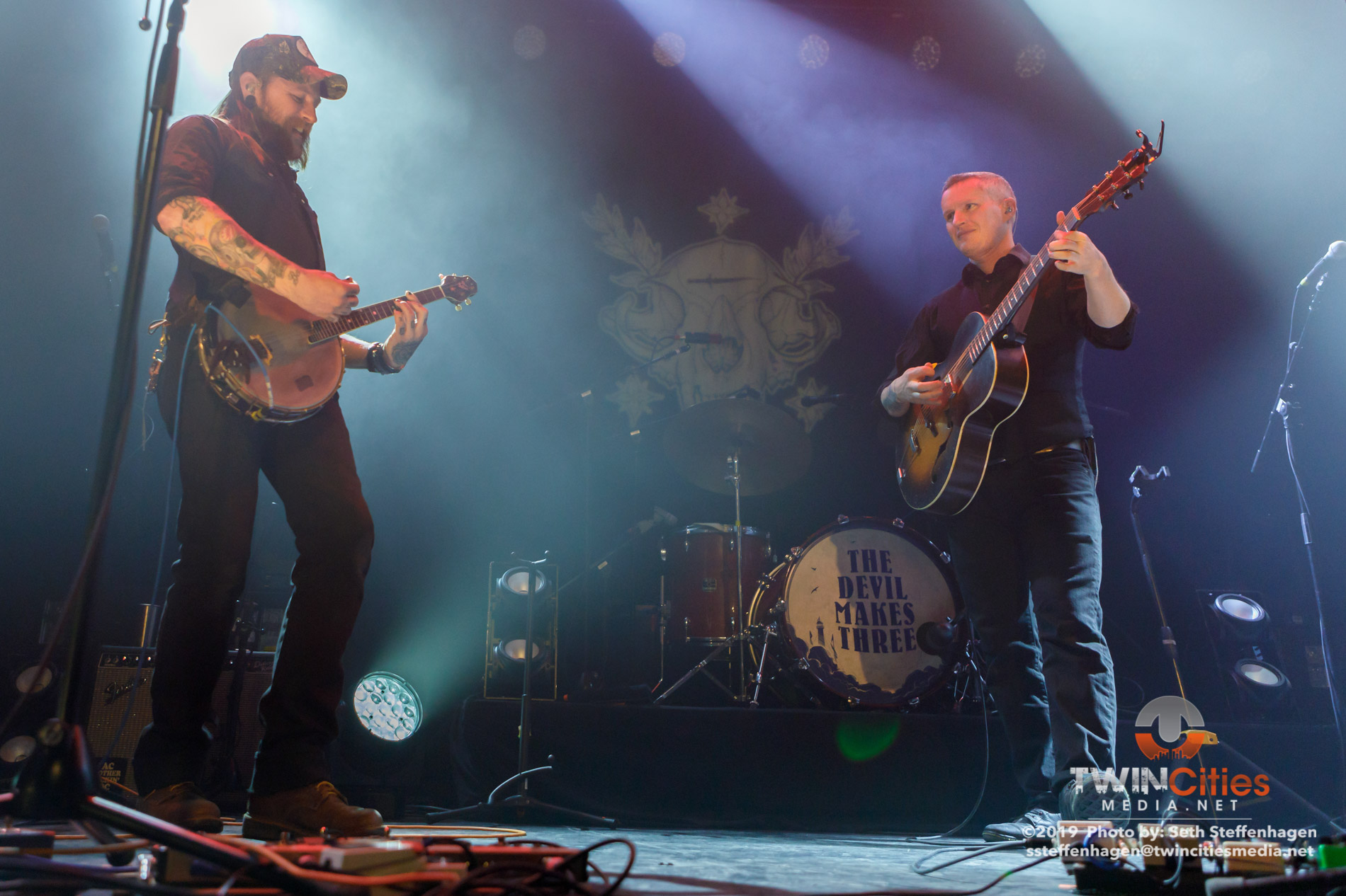 February 1, 2019 - Minneapolis, Minnesota, United States - The Devil Makes Three live in concert at First Avenue along with Lost Dog Street Band as the opener.(Photo by Seth Steffenhagen/Steffenhagen Photography)