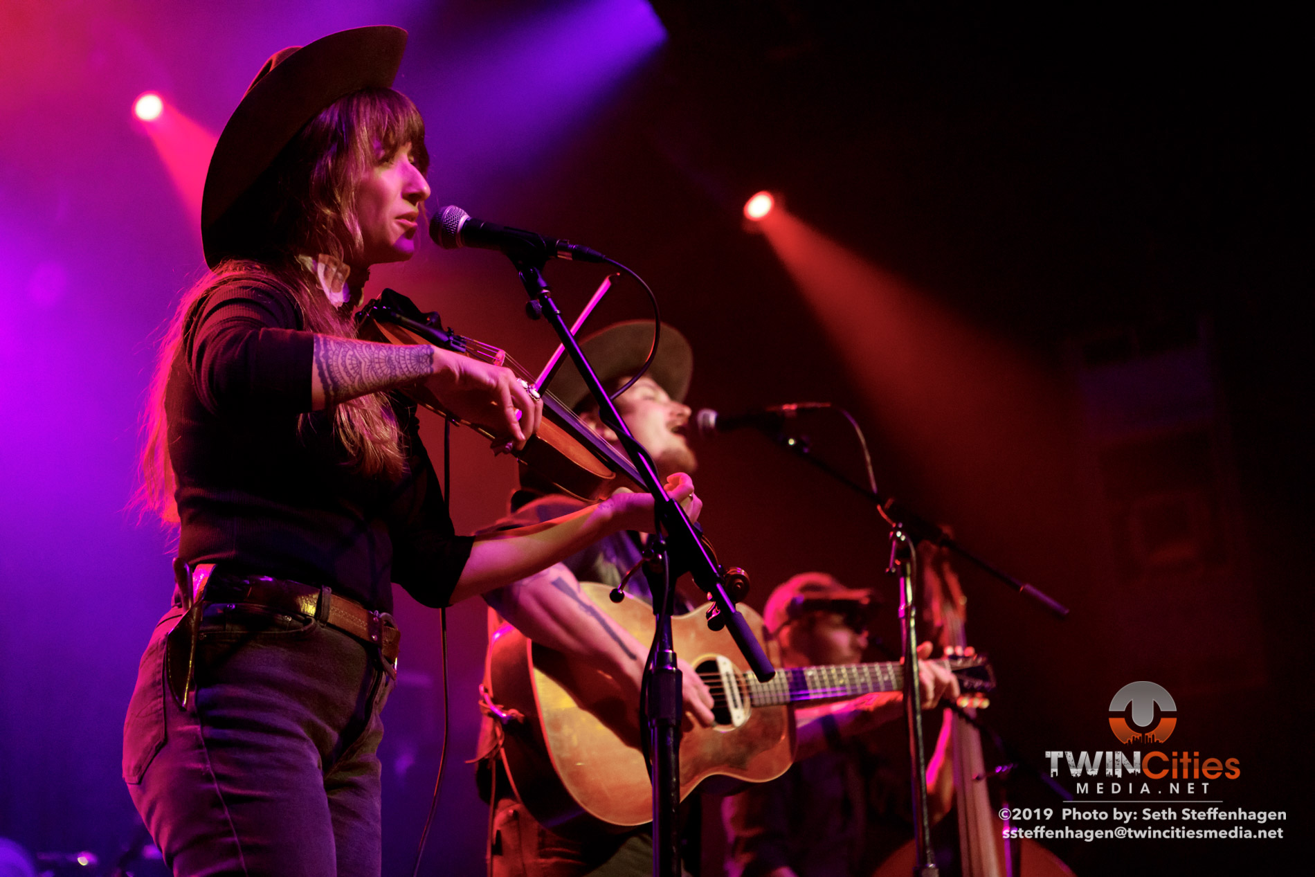 February 1, 2019 - Minneapolis, Minnesota, United States -  Lost Dog Street Band live in concert at First Avenue opening for The Devil Makes Three.  (Photo by Seth Steffenhagen/Steffenhagen Photography)