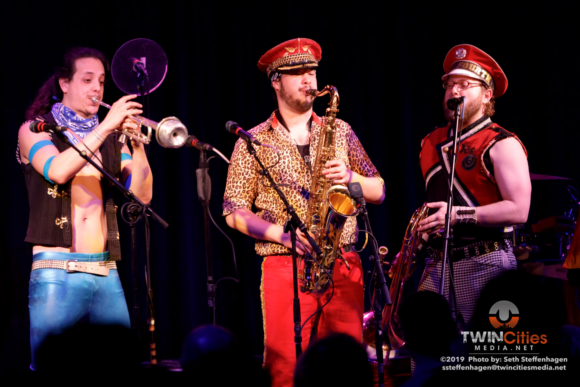 March 15, 2019 - Minneapolis, Minnesota, United States - MarchFourth live in concert at the Cedar Cultural Center along with Orkestar Biz Ime as the openers.  (Photo by Seth Steffenhagen/Steffenhagen Photography)