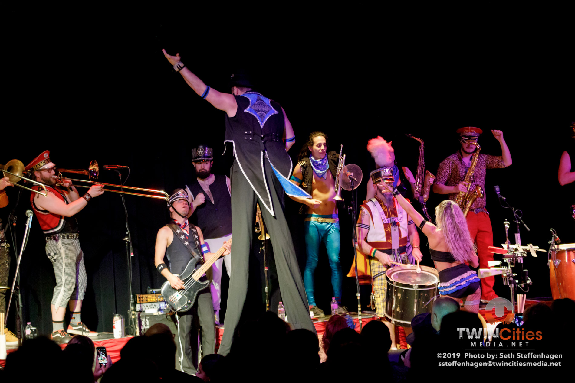 March 15, 2019 - Minneapolis, Minnesota, United States - MarchFourth live in concert at the Cedar Cultural Center along with Orkestar Biz Ime as the openers.(Photo by Seth Steffenhagen/Steffenhagen Photography)