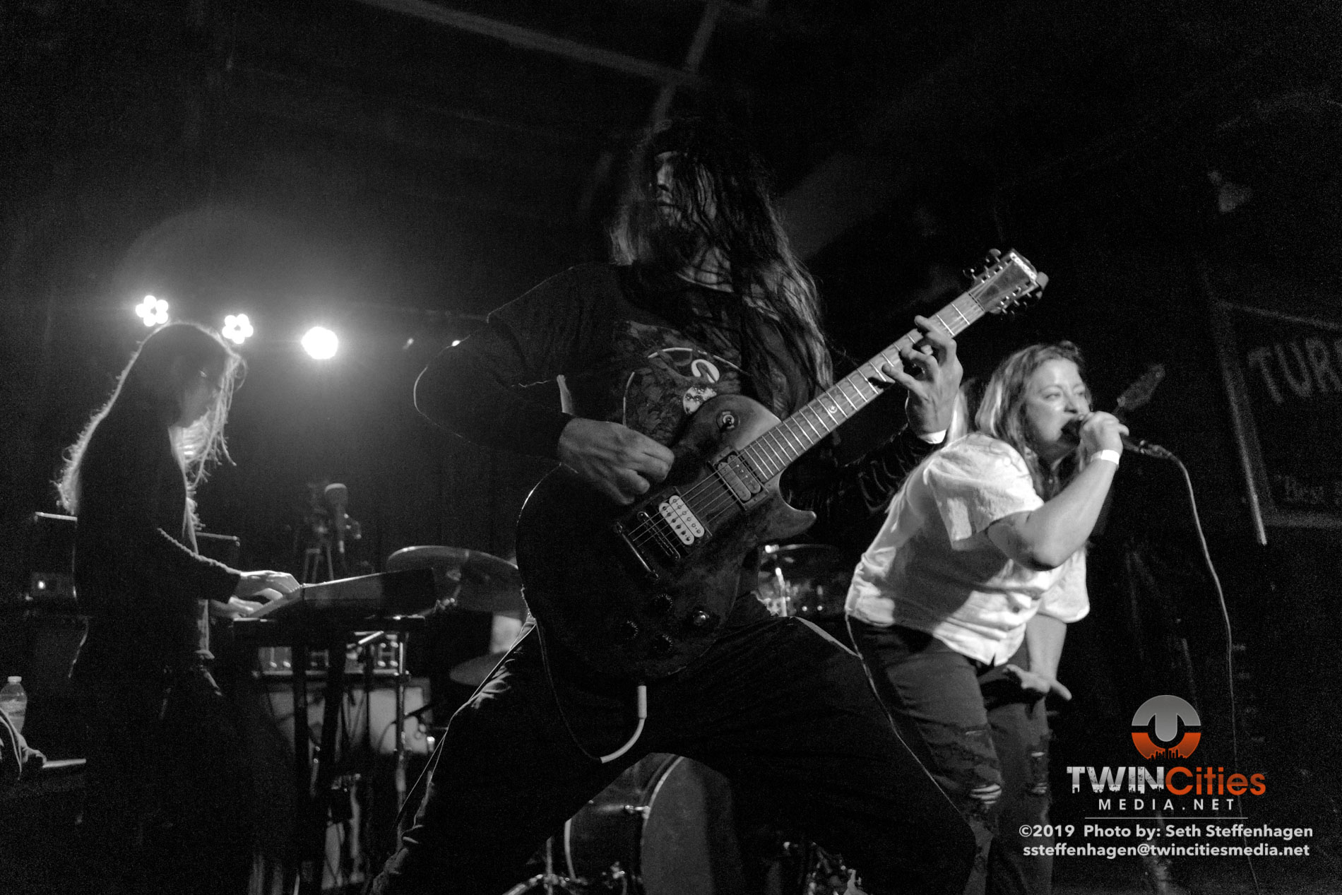 March 27, 2019 - Saint Paul, Minnesota, United States -  False live in concert at the Turf Club opening for Thou and Emma Ruth Rundle.  (Photo by Seth Steffenhagen/Steffenhagen Photography)