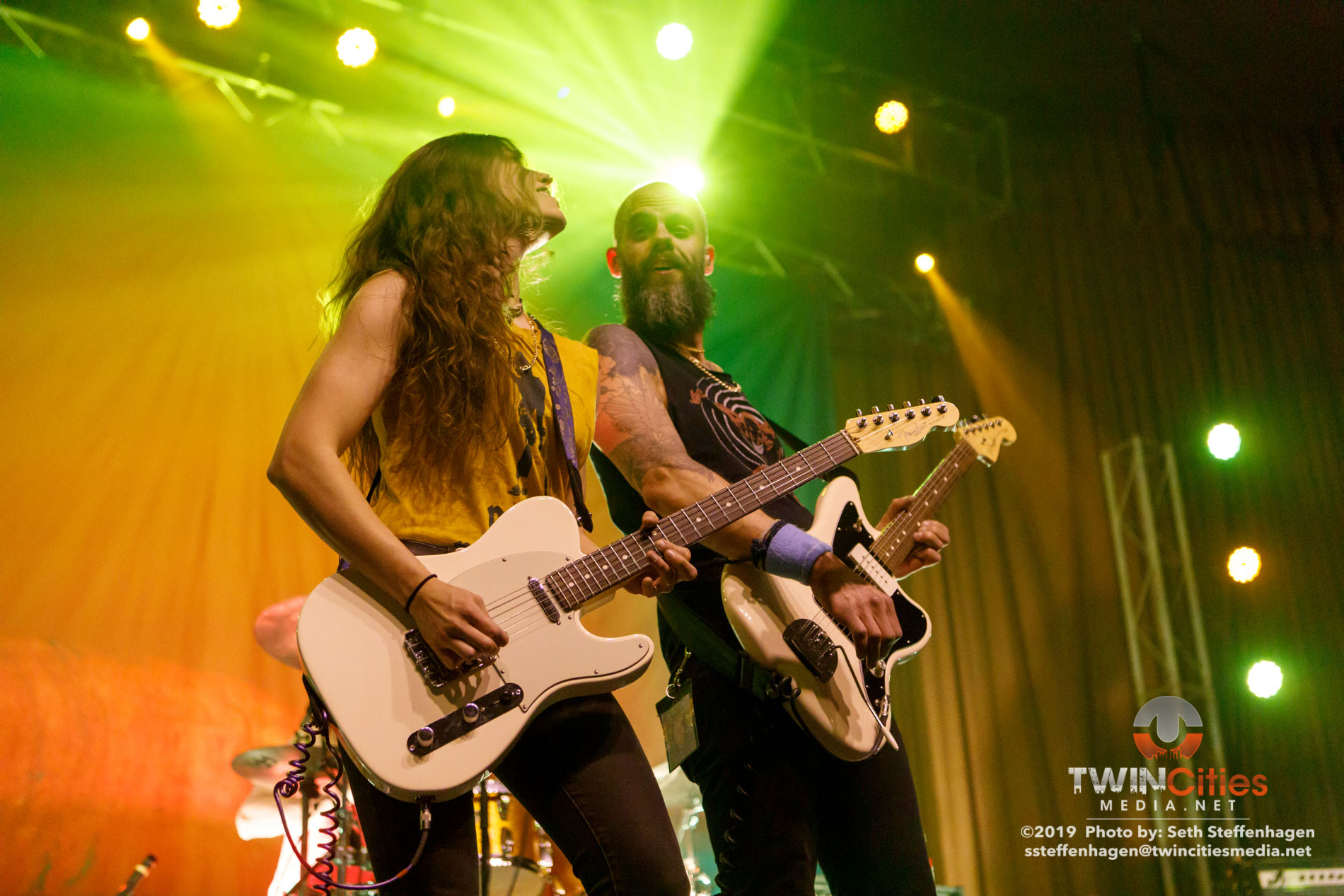 March 29, 2019 - Minneapolis, Minnesota, United States - Baroness live in concert at the Skyway Theatre co-headling with Deafheaven along with Zeal & Ardor as the openers.  (Photo by Seth Steffenhagen/Steffenhagen Photography)