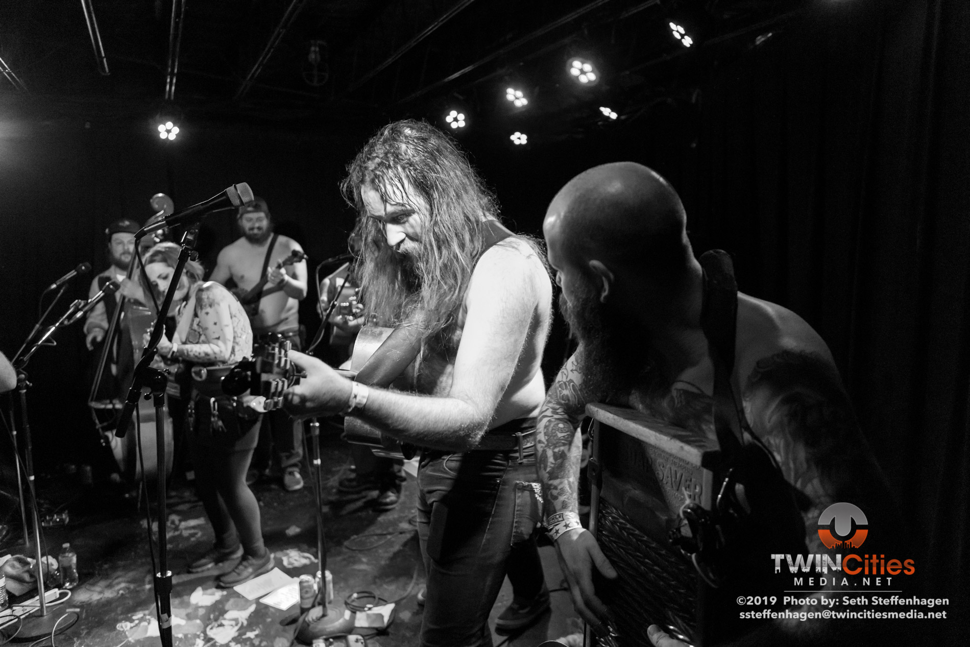 May 2, 2019 - Minneapolis, Minnesota, United States - Bridge City Sinners live in concert at the 7th Street Entry along with Tejon Street Corner Thieves and The Von Tramps as the openers.  (Photo by Seth Steffenhagen/Steffenhagen Photography)