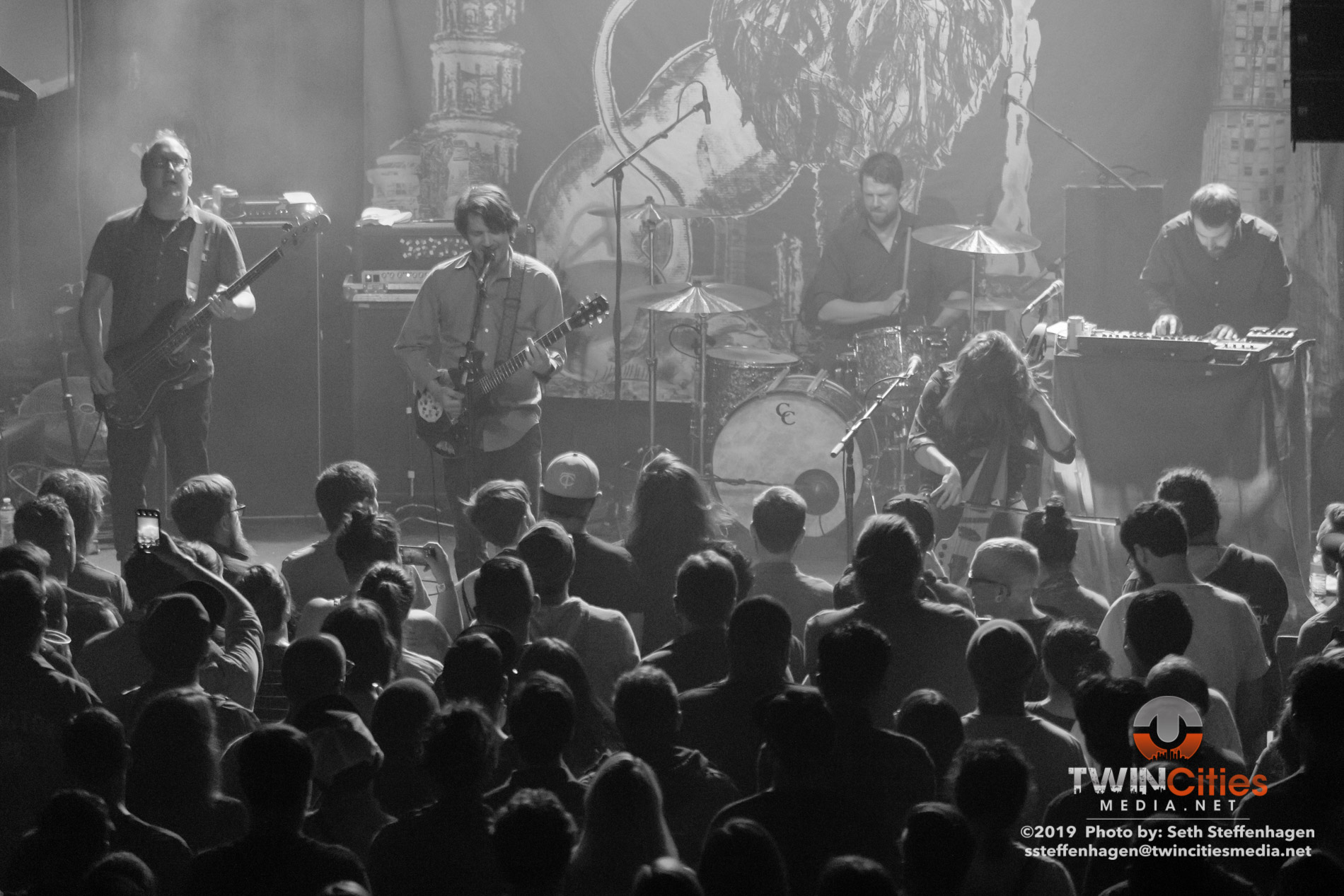 May 4, 2019 - Minneapolis, Minnesota, United States - Cursive live in concert at the Fine Line along with mewithoutYou and The Appleseed Cast as the openers.  (Photo by Seth Steffenhagen/Steffenhagen Photography)