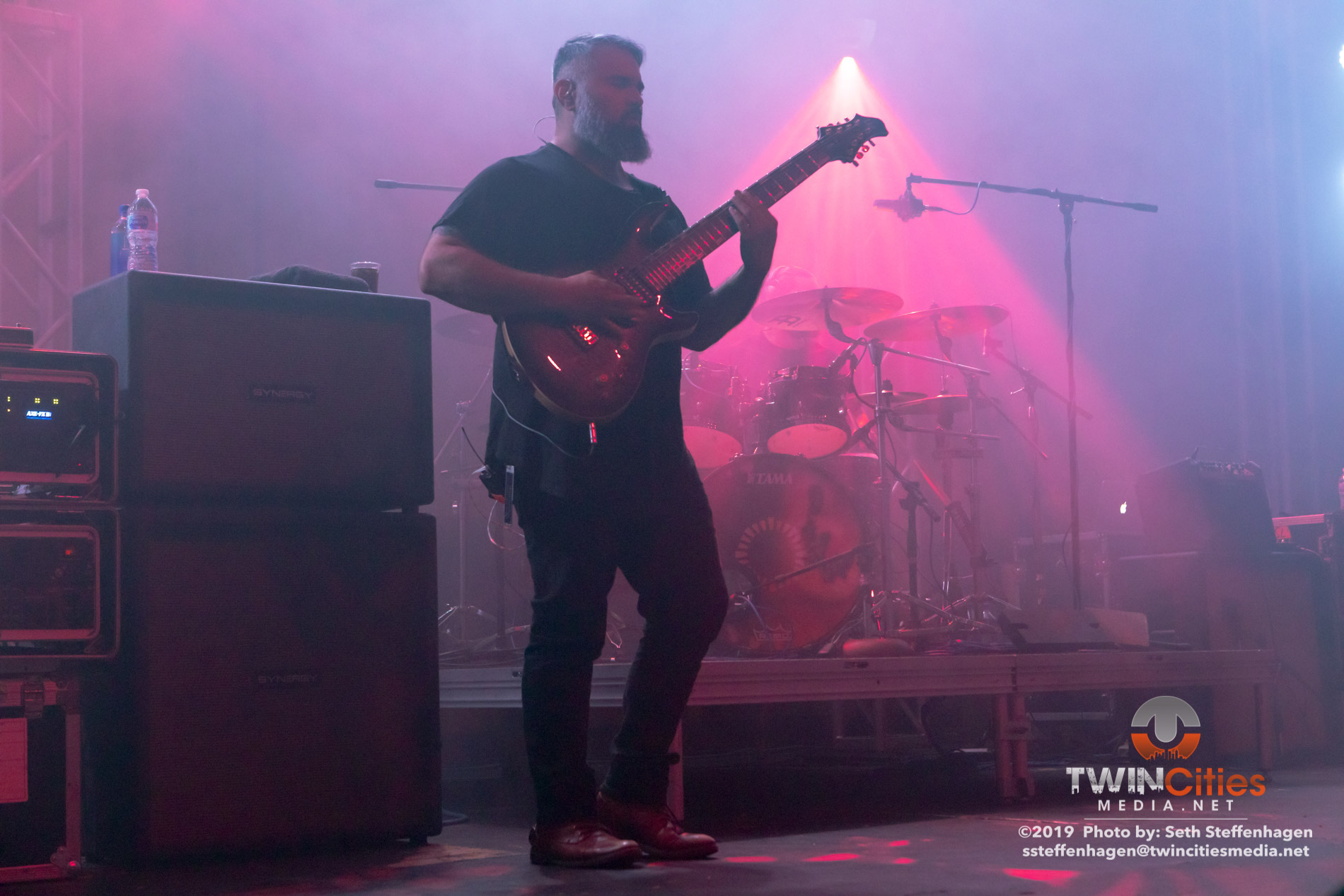 May 15, 2019 - Minneapolis, Minnesota, United States - Animals As Leaders live in concert at the Skyway Theatre along with The Contortionist and Buke And Gase as the openers.(Photo by Seth Steffenhagen/Steffenhagen Photography)