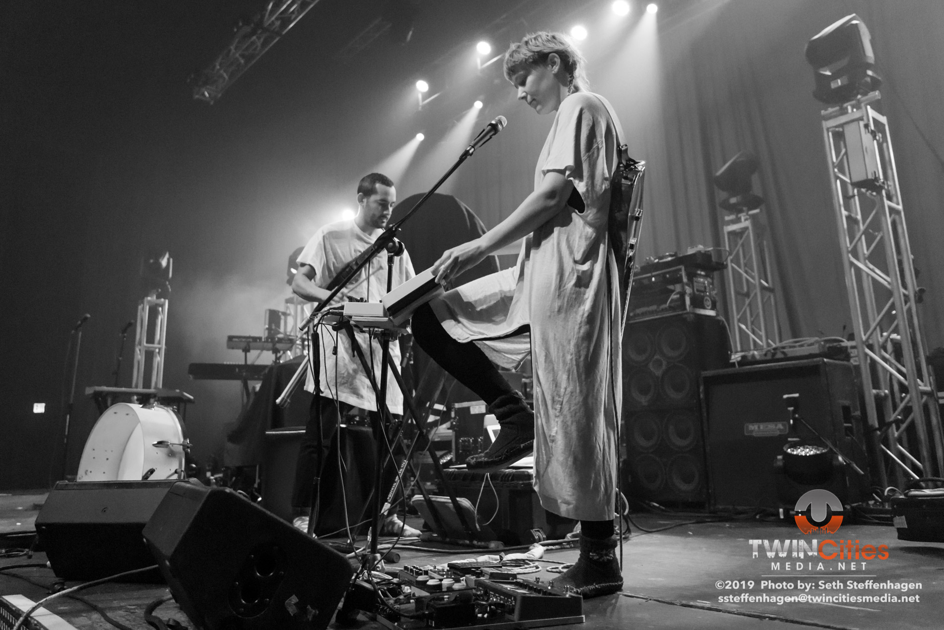 May 15, 2019 - Minneapolis, Minnesota, United States - Buke And Gase live in concert at the Skyway Theatre opening for Animals As Leaders.  (Photo by Seth Steffenhagen/Steffenhagen Photography)