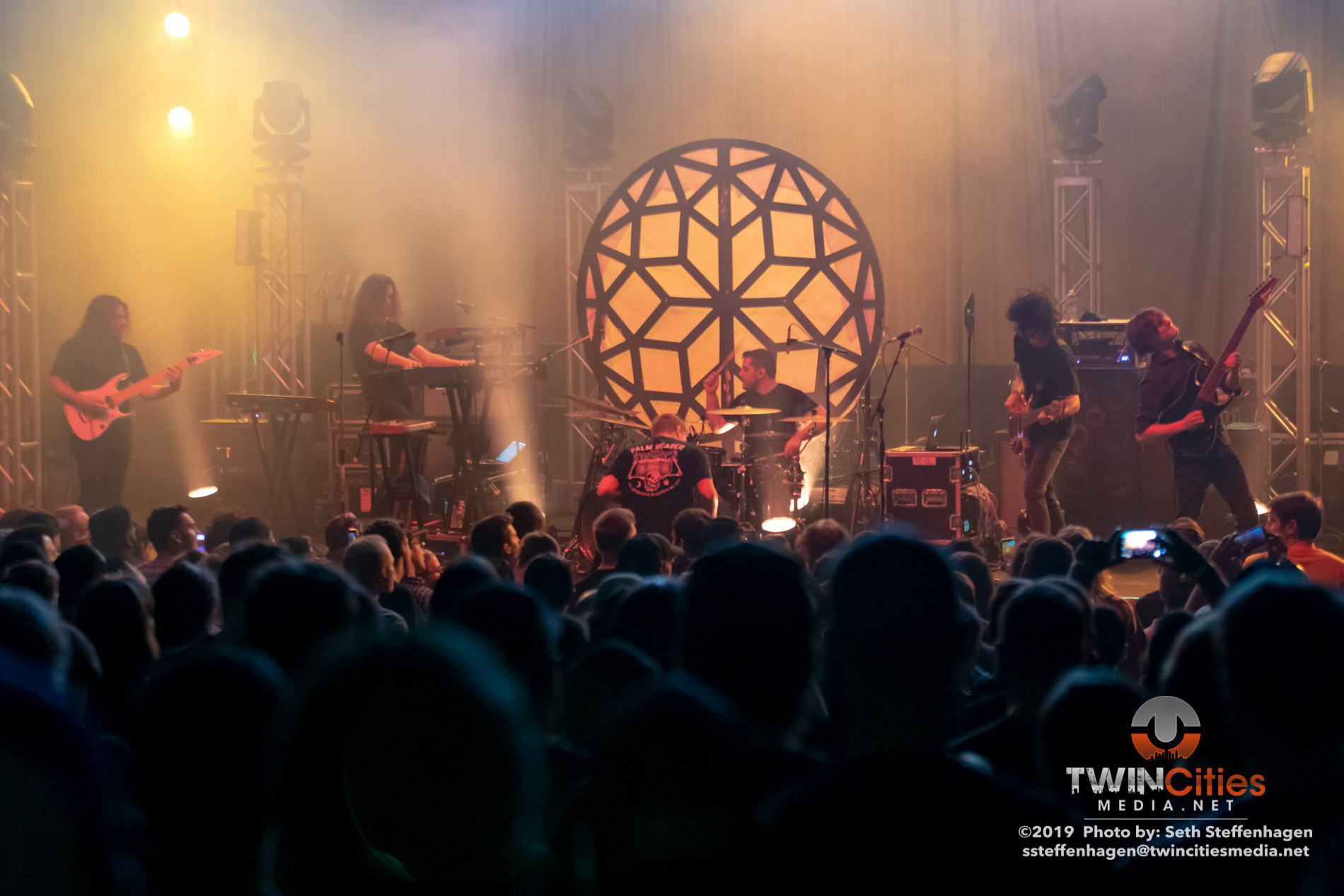May 15, 2019 - Minneapolis, Minnesota, United States -  The Contortionist live in concert at the Skyway Theatre opening for Animals As Leaders.  (Photo by Seth Steffenhagen/Steffenhagen Photography)