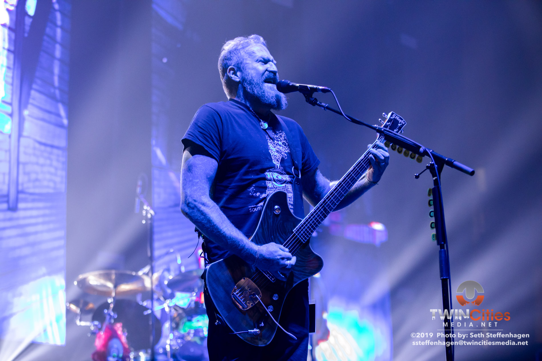 June 15, 2019 - Minneapolis, Minnesota, United States - Mastodon live in concert at The Armory along with Coheed & Cambria and Every Time I Die.(Photo by Seth Steffenhagen/Steffenhagen Photography)