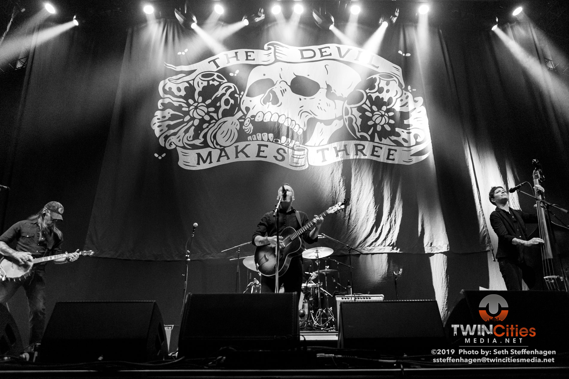 September 8, 2019 - Minneapolis, Minnesota, United States -  The Devil Makes Three live in concert at the The Armory opening for co-headliners Social Distortion and Flogging Molly.  (Photo by Seth Steffenhagen/Steffenhagen Photography)