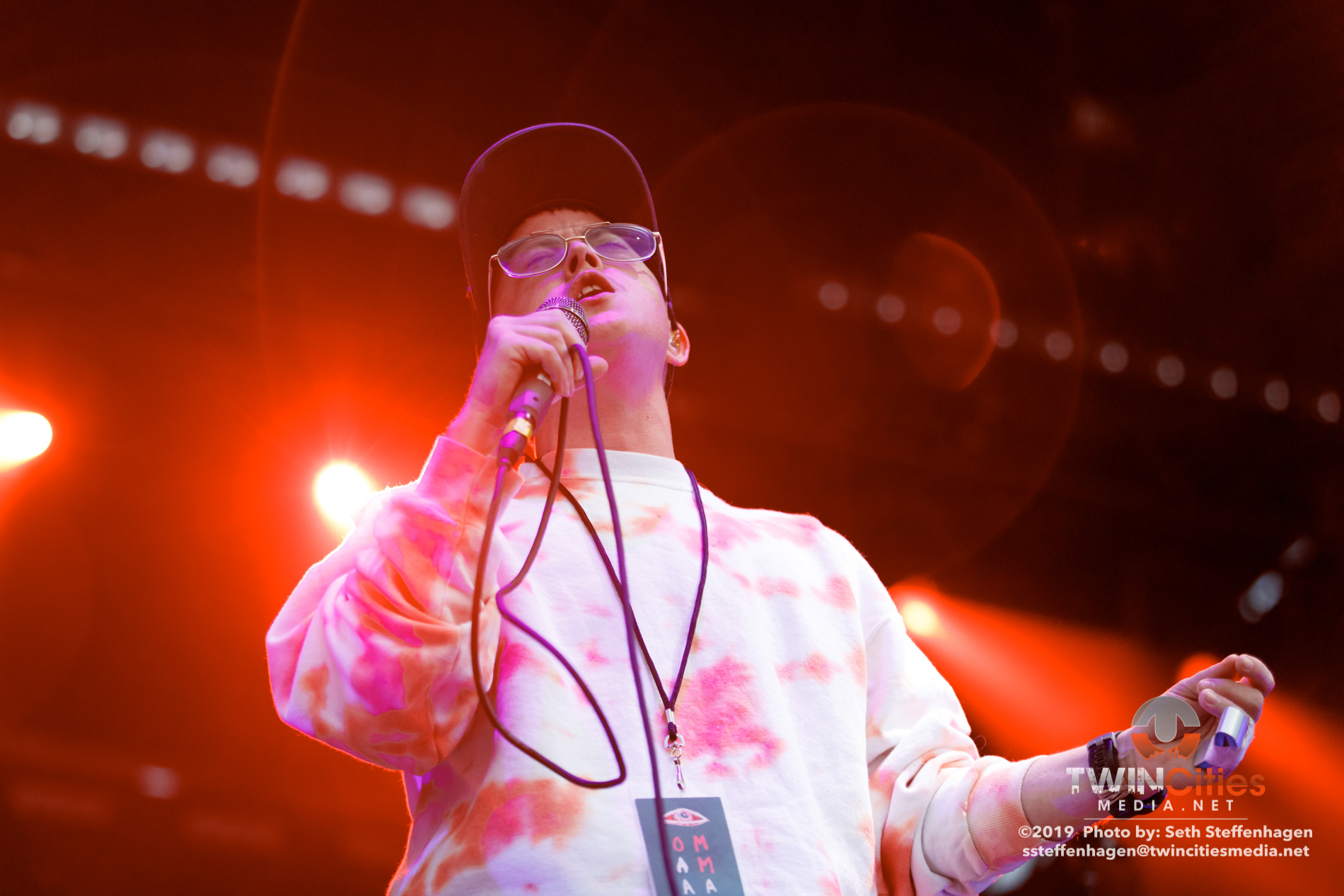 September 14, 2019 - Minneapolis, Minnesota, United States -  Lower Dens live in concert at Surly Brewing Festival Field opening for Of Monsters And Men.  (Photo by Seth Steffenhagen/Steffenhagen Photography)