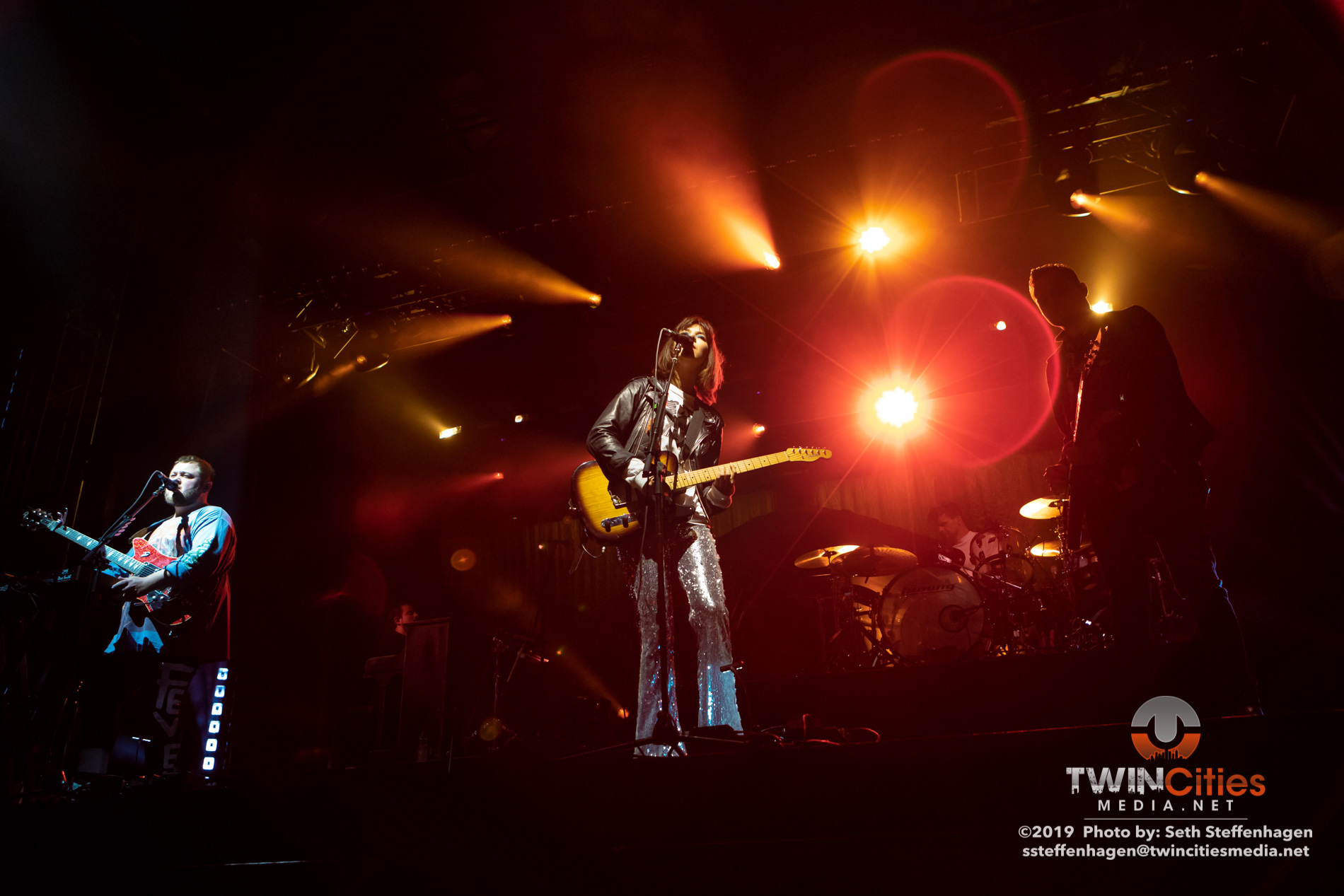 September 14, 2019 - Minneapolis, Minnesota, United States - Of Monsters And Men live in concert at Surly Brewing Festival Field along with Lower Dens as the openers.(Photo by Seth Steffenhagen/Steffenhagen Photography)