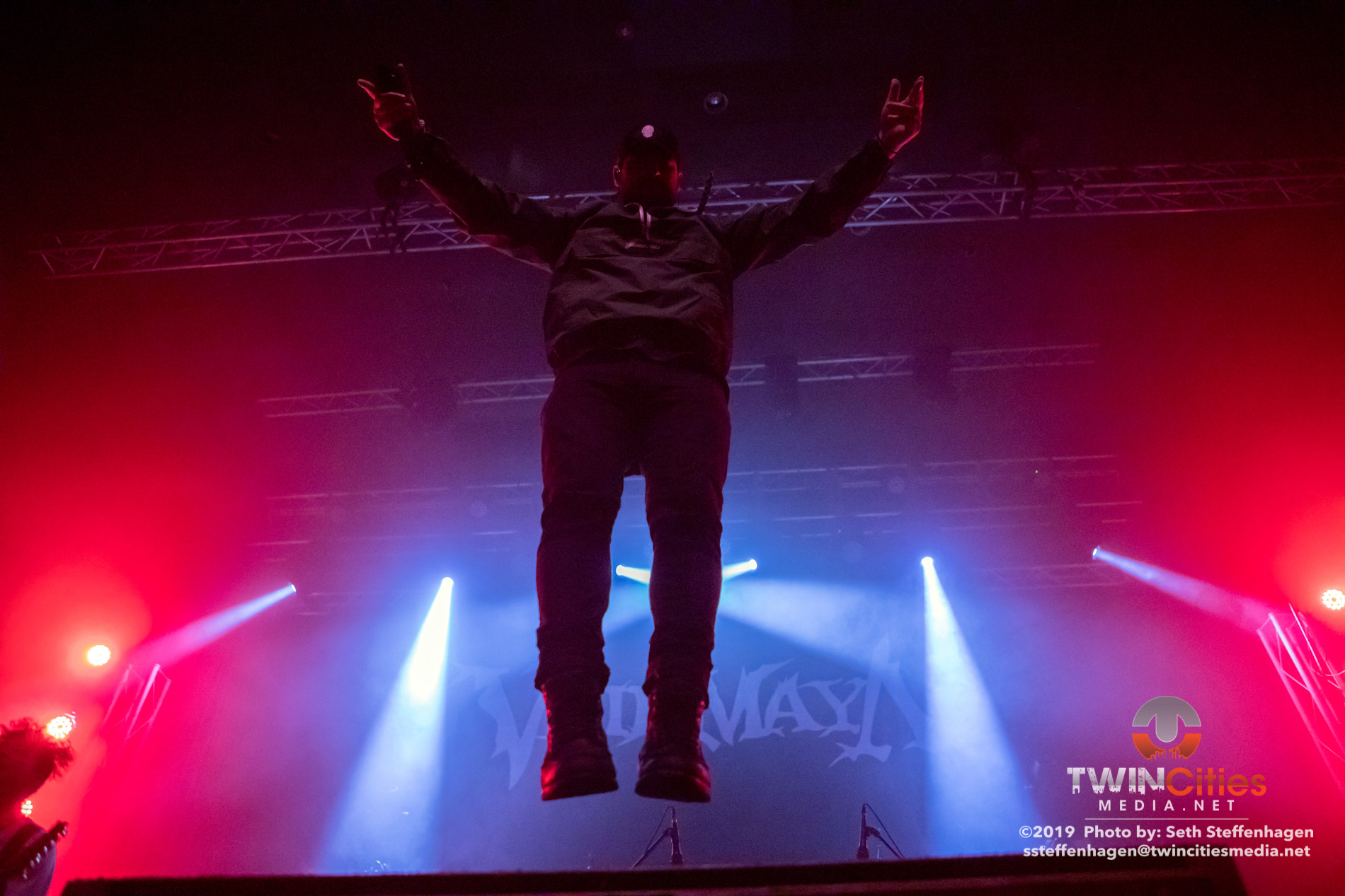 September 18, 2019 - Minneapolis, Minnesota, United States -  Veil Of Maya live in concert at the Skyway Theatre opening for Periphery.  (Photo by Seth Steffenhagen/Steffenhagen Photography)
