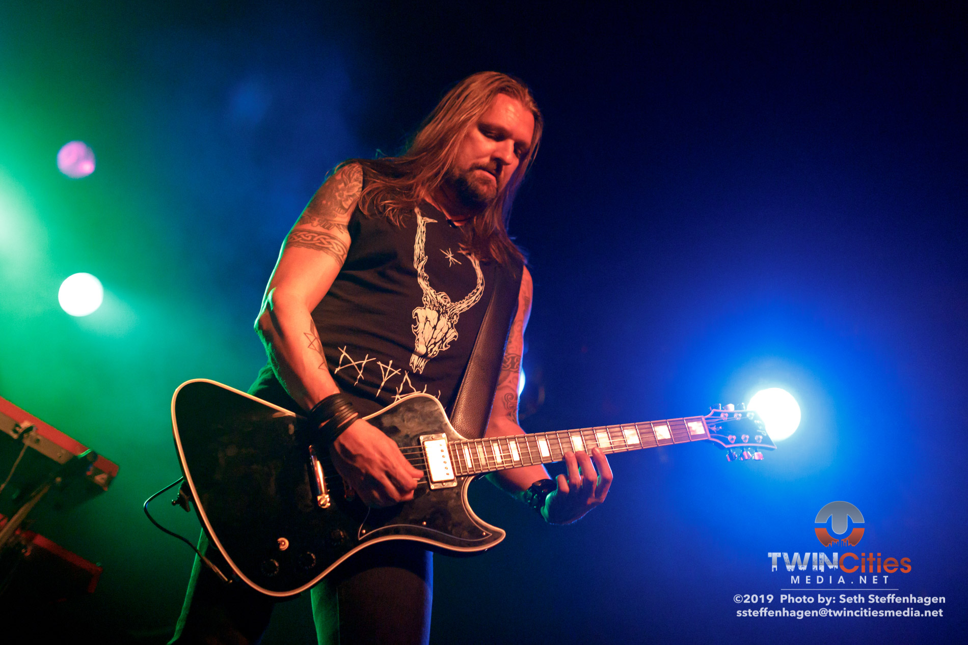 September 30, 2019 - Minneapolis, Minnesota, United States -  Amorphis live in concert at The Cabooze opening for Delain along with Anneke Van Giersbergen.  (Photo by Seth Steffenhagen/Steffenhagen Photography)