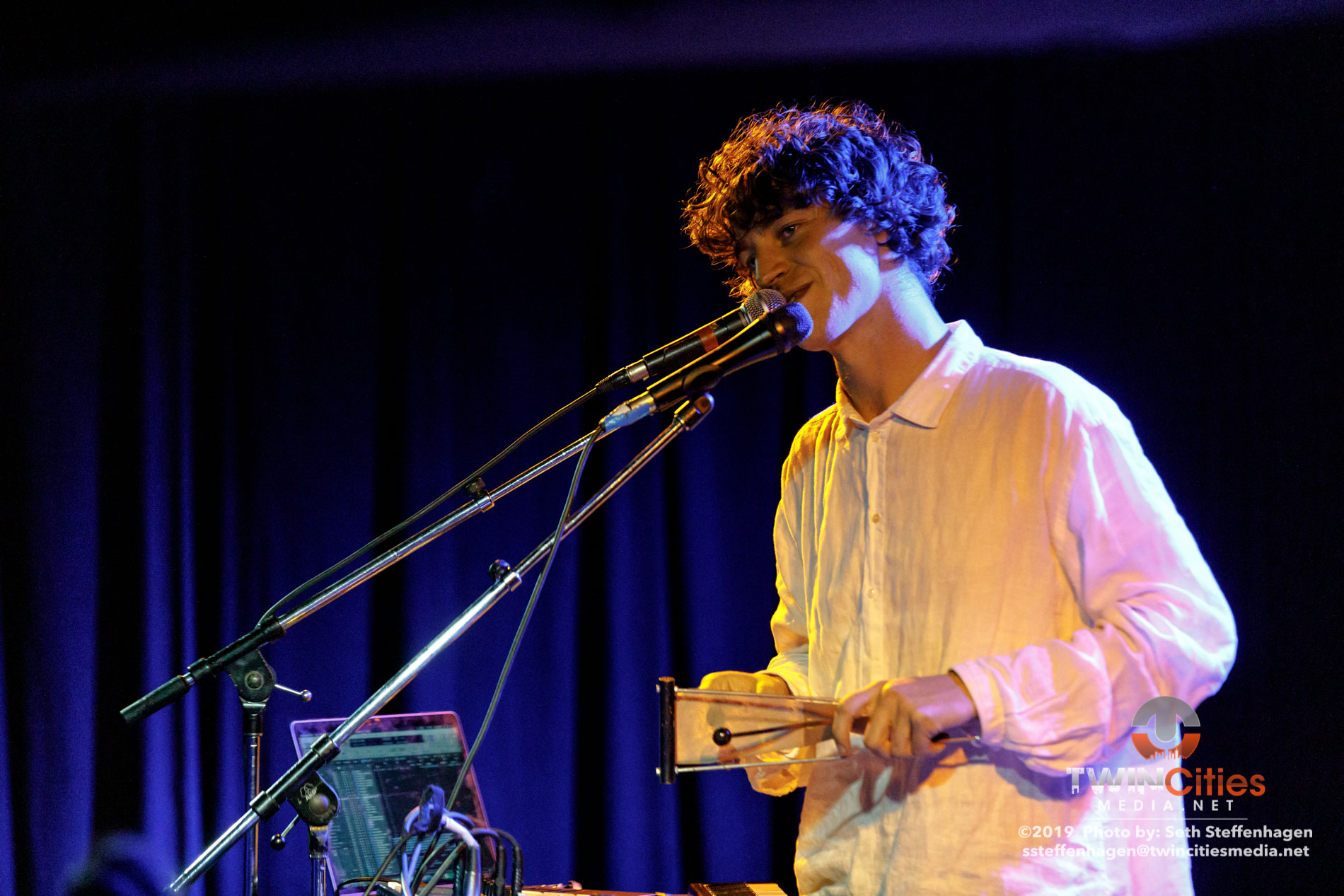 October 2, 2019 - Minneapolis, Minnesota, United States - Cosmo Sheldrake live in concert at the 7th Street Entry  along with altopalo as the openers.(Photo by Seth Steffenhagen/Steffenhagen Photography)