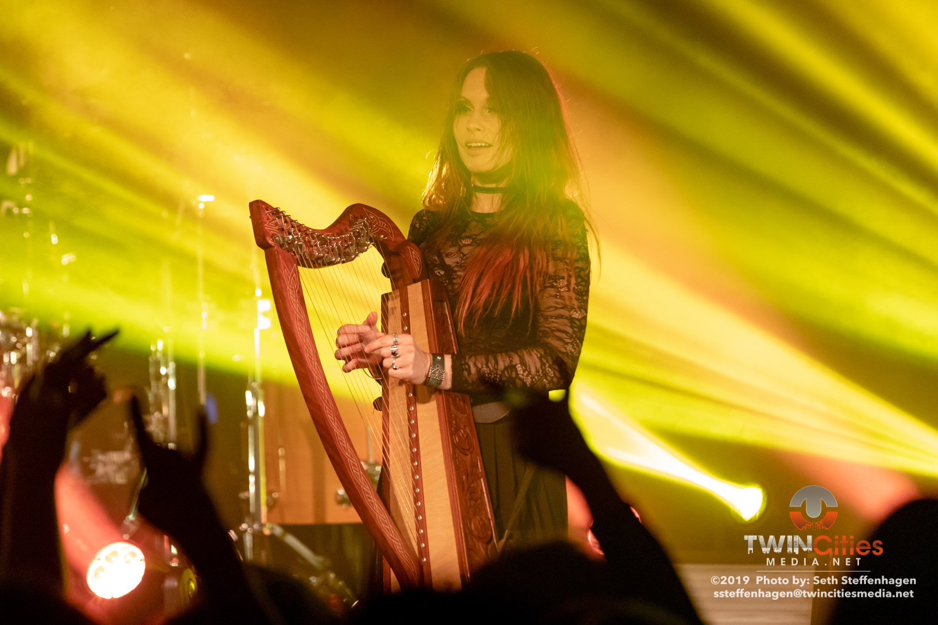 October 5, 2019 - Minneapolis, Minnesota, United States -  Eluveitie live in concert at The Cabooze co-headlining with Korpiklaani and with Gone In April as the openers.  (Photo by Seth Steffenhagen/Steffenhagen Photography)