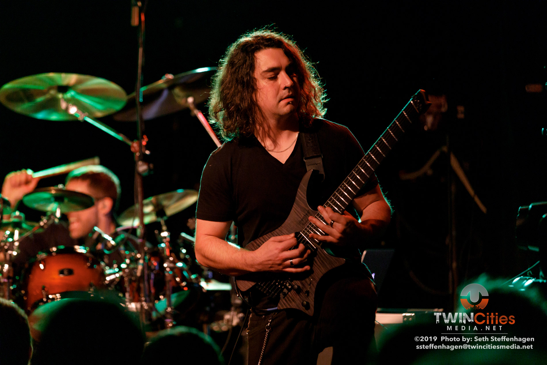 October 5, 2019 - Minneapolis, Minnesota, United States -  Gone In April live in concert at The Cabooze opening for Eluveitie + Korpiklaani.  (Photo by Seth Steffenhagen/Steffenhagen Photography)