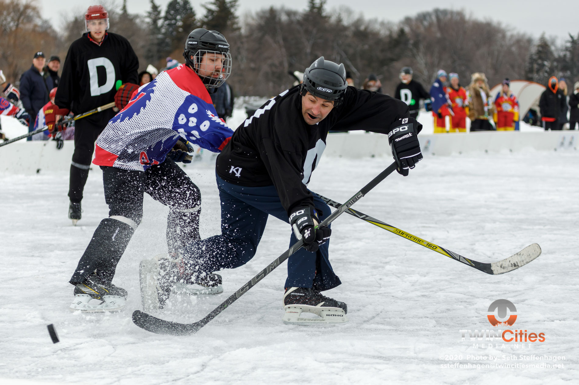 January 25, 2020 - Minneapolis, Minnesota, United States - Scenes from the U.S. Pond Hockey Championships on Lake Nokomis.   (Photo by Seth Steffenhagen/Steffenhagen Photography)