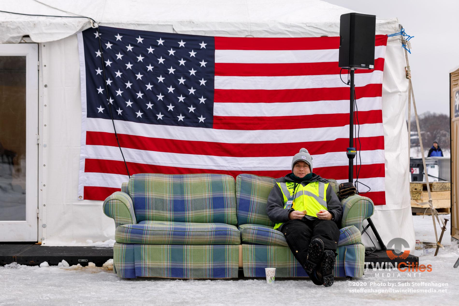 January 26, 2020 - Minneapolis, Minnesota, United States - Scenes from the U.S. Pond Hockey Championships on Lake Nokomis.   (Photo by Seth Steffenhagen/Steffenhagen Photography)