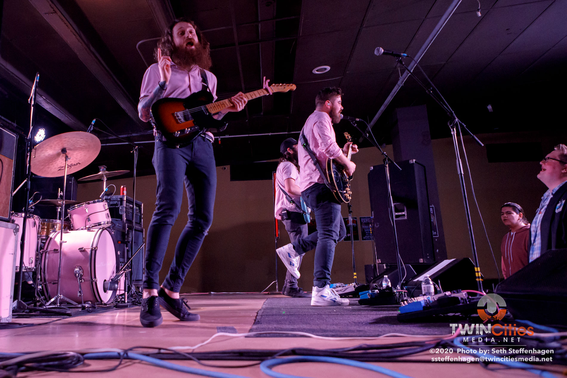 February 23, 2020 - Minneapolis, Minnesota, United States - Motherfolk live in concert at the Skyway Theatre Studio B along with Coyote Kid as the opener.(Photo by Seth Steffenhagen/Steffenhagen Photography)
